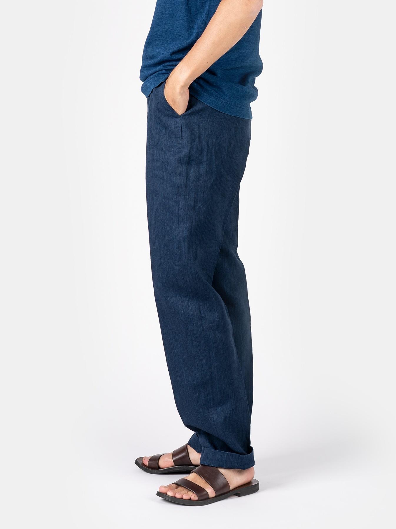WH Indigo Linen Easy Slacks-4