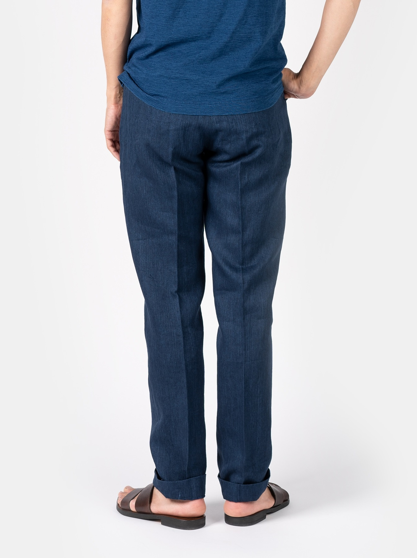 WH Indigo Linen Easy Slacks-5