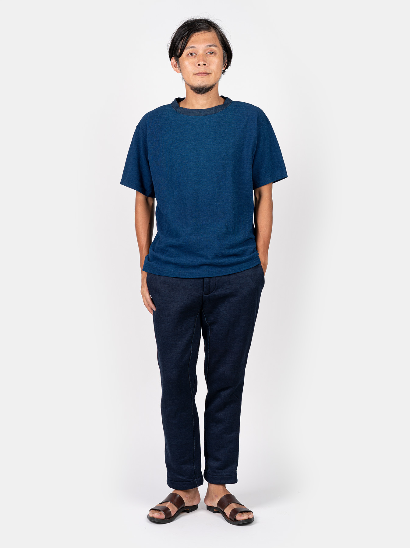 WH Indigo Ultimate Pique T-shirt Distressed-2