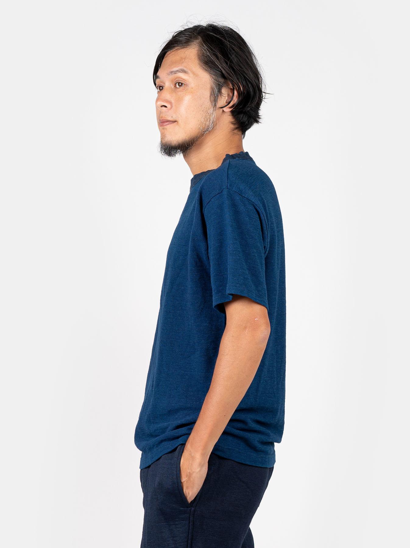 WH Indigo Ultimate Pique T-shirt Distressed-4