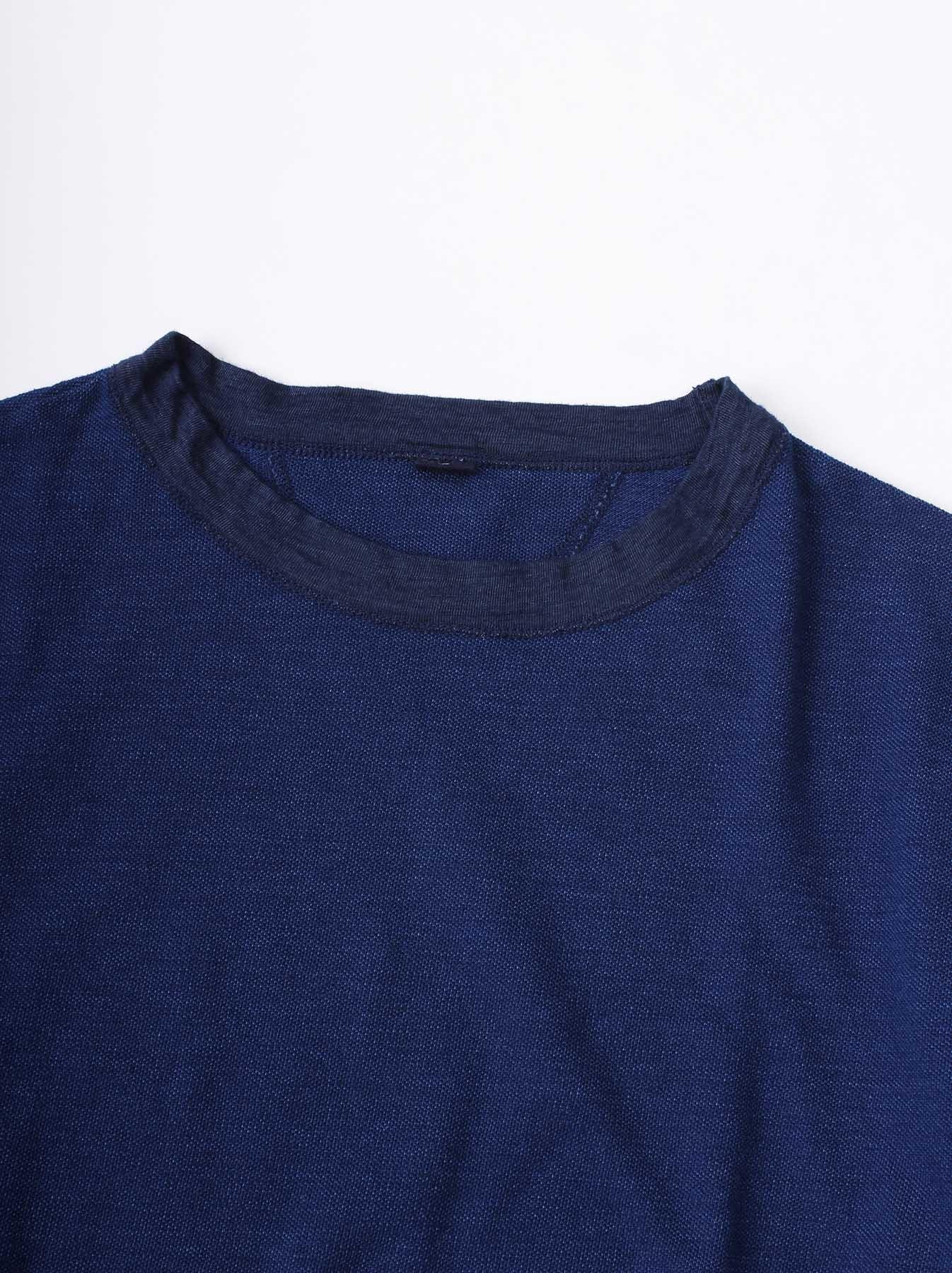 WH Indigo Ultimate Pique T-shirt Distressed-6