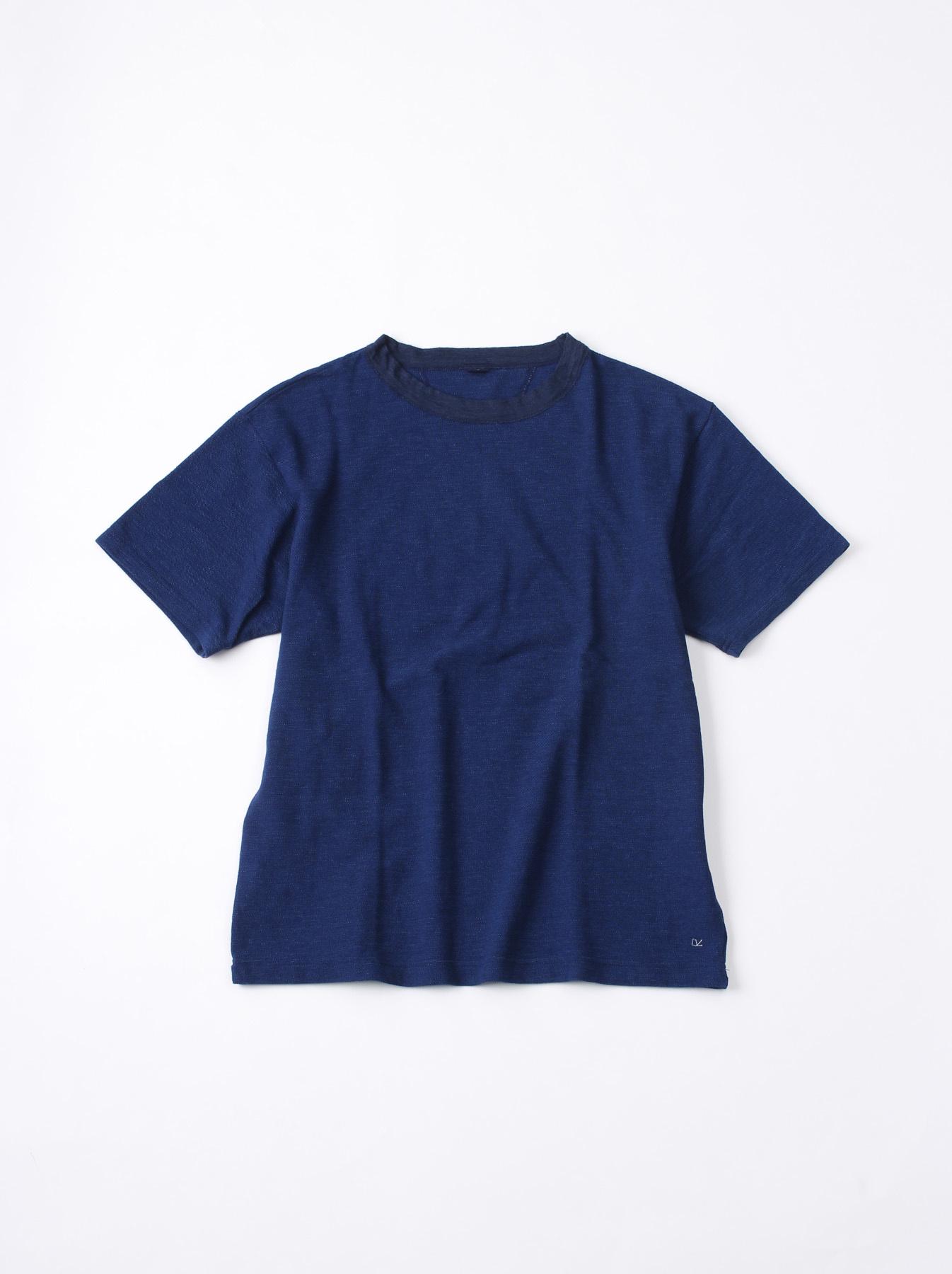 WH Indigo Ultimate Pique T-shirt Distressed-1
