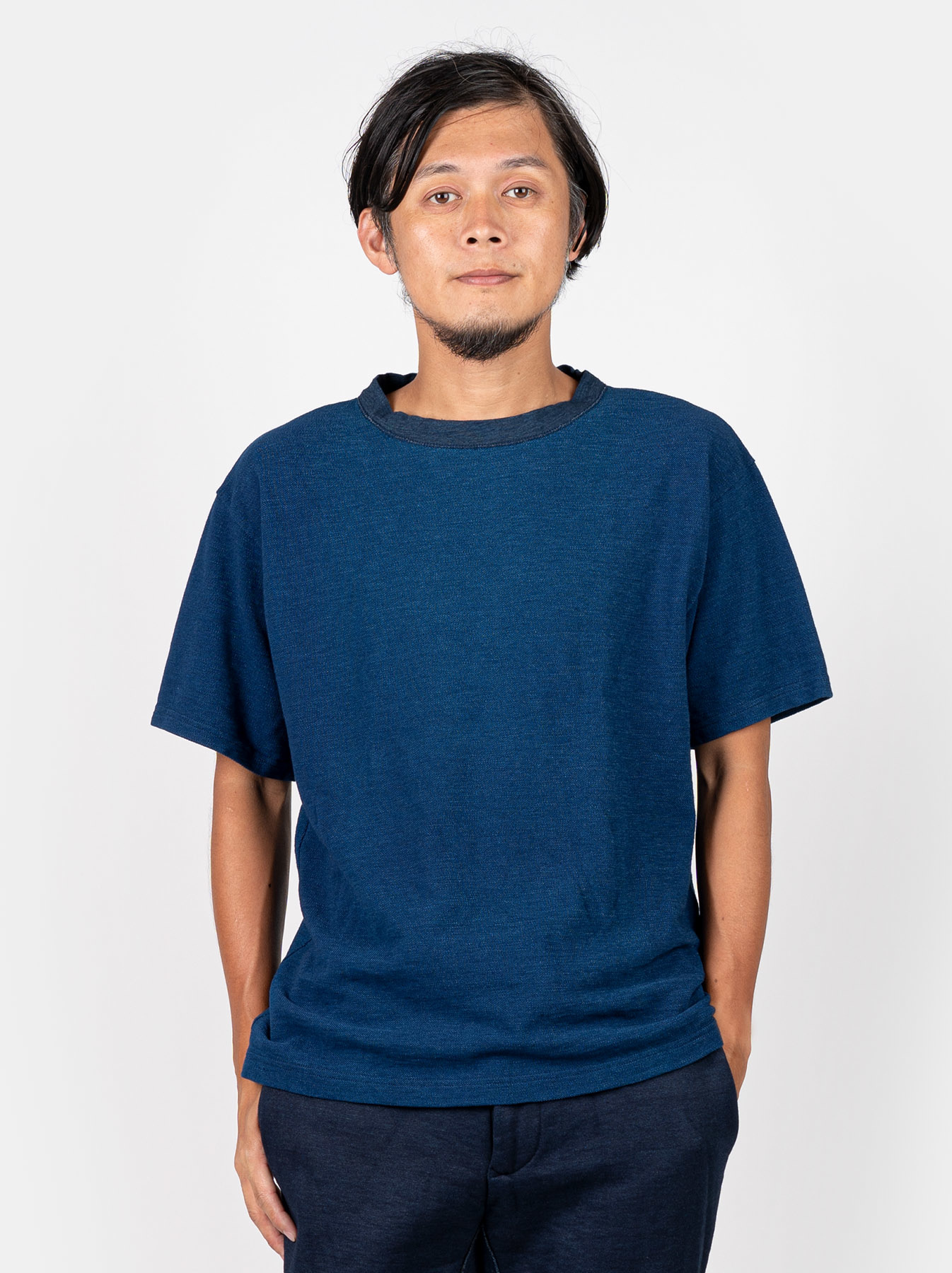 WH Indigo Ultimate Pique T-shirt Distressed-3