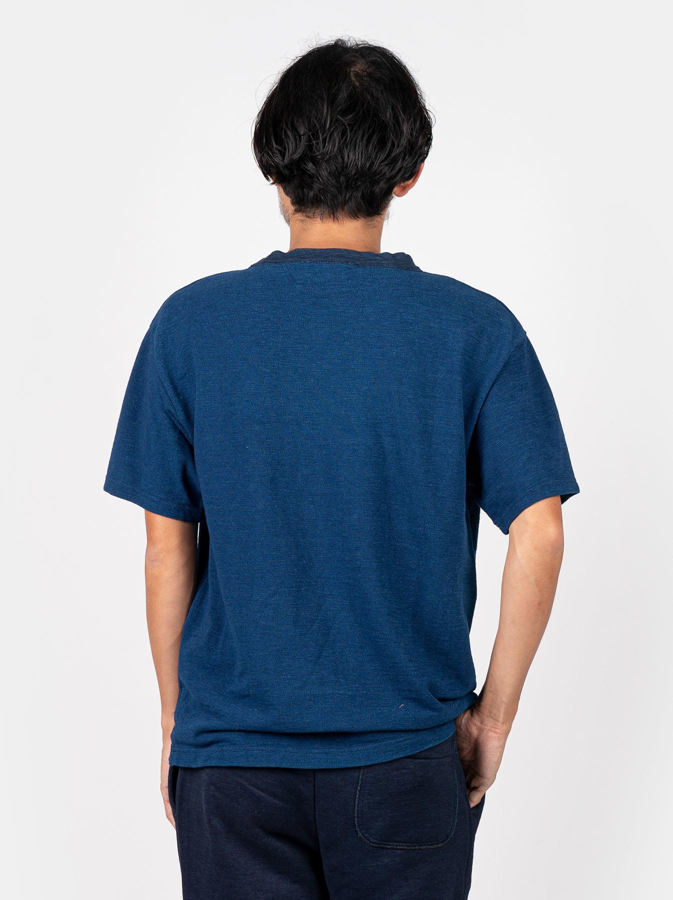 WH Indigo Ultimate Pique T-shirt Distressed-5
