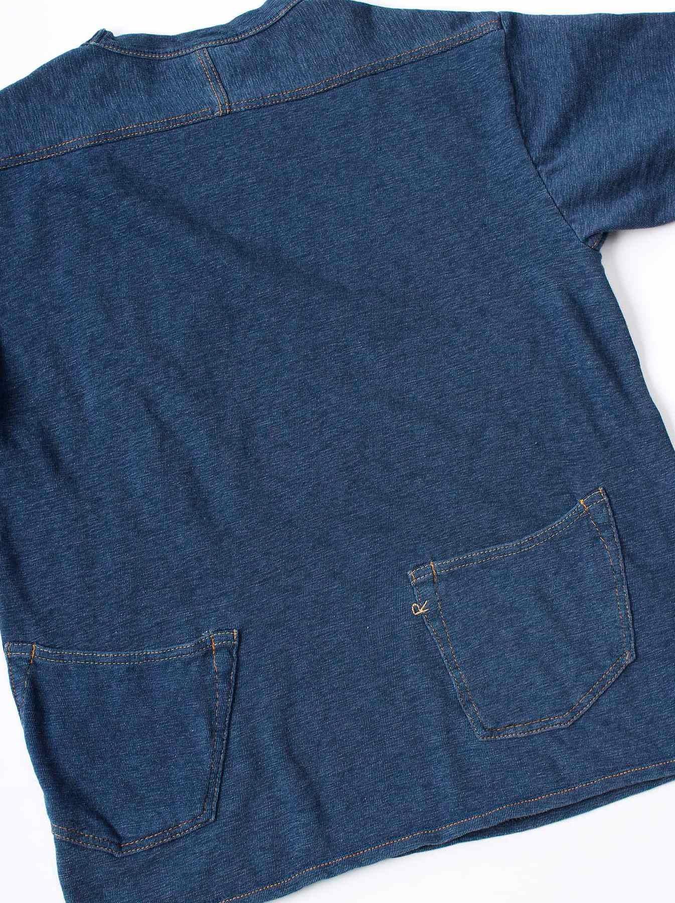 WH Indigo Plating Tenjiku T-shirt Distressed-8