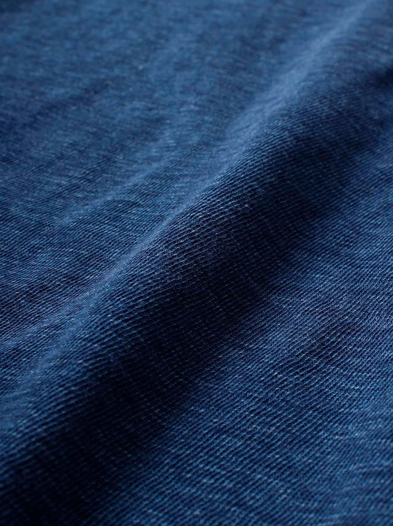 WH Indigo Plating Tenjiku T-shirt Distressed-12