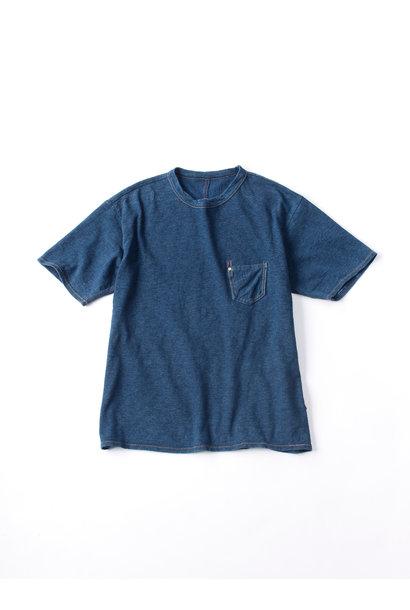 WH Indigo Plating Tenjiku T-shirt Distressed