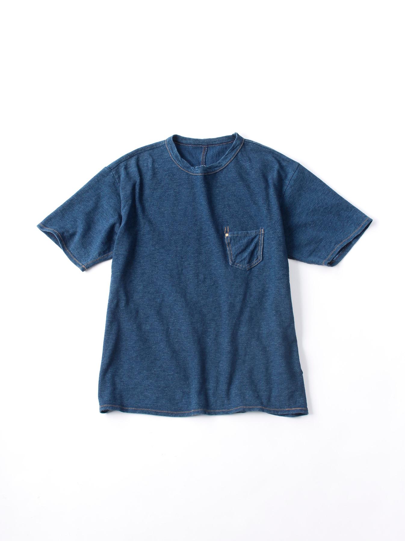 WH Indigo Plating Tenjiku T-shirt Distressed-1