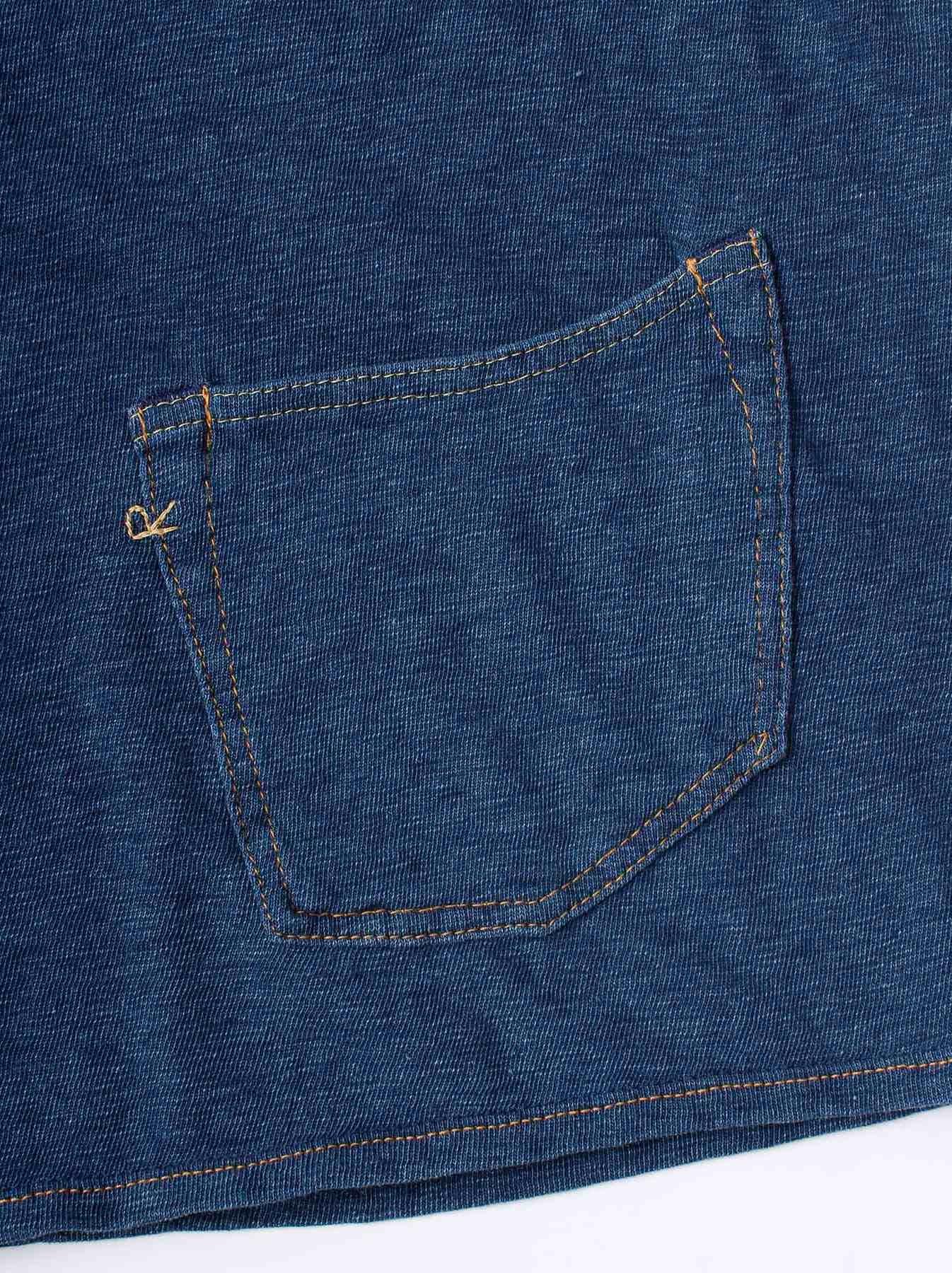 WH Indigo Plating Tenjiku T-shirt Distressed-9