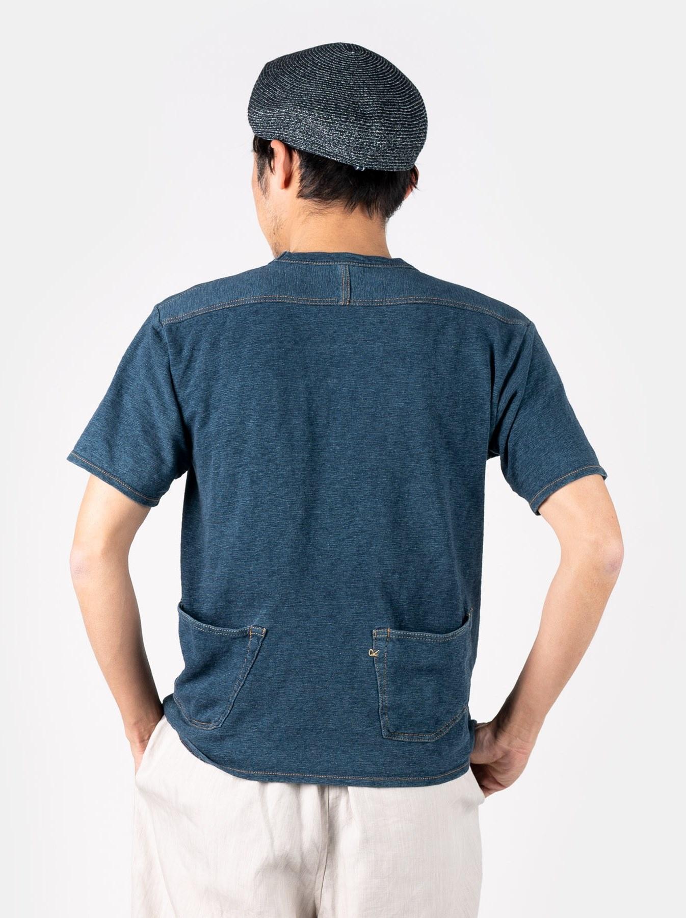 WH Indigo Plating Tenjiku T-shirt Distressed-5