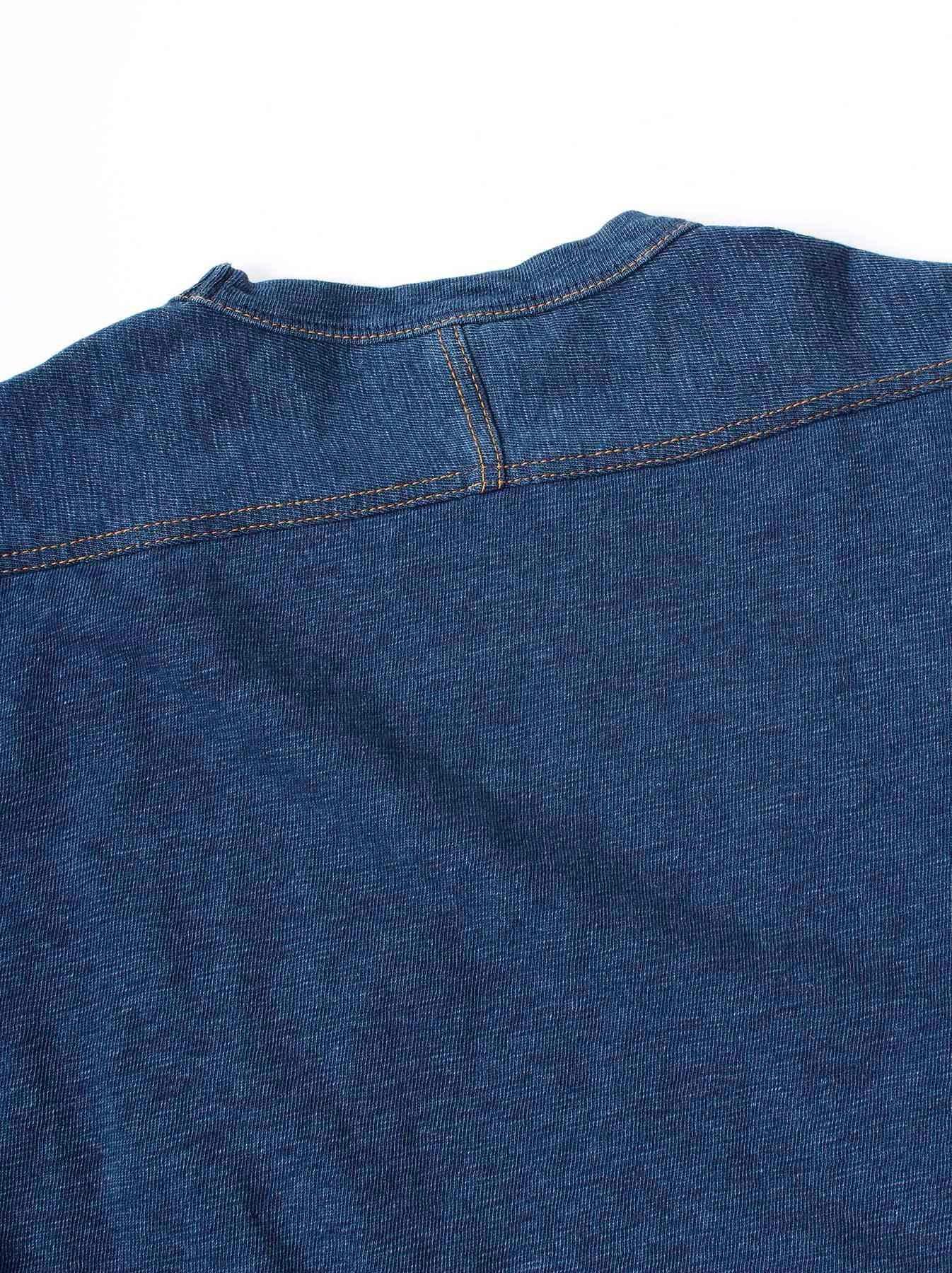 WH Indigo Plating Tenjiku T-shirt Distressed-10