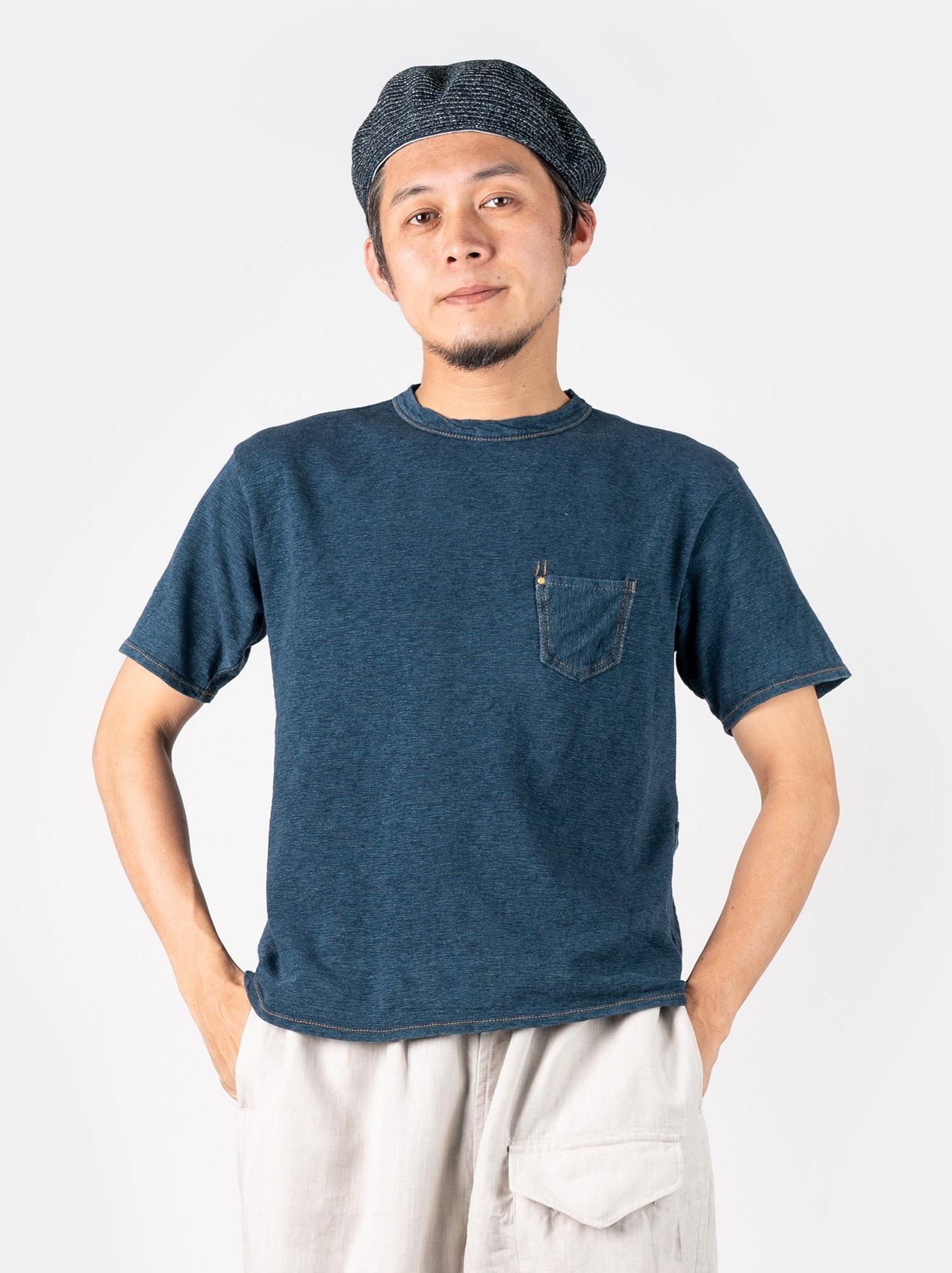 WH Indigo Plating Tenjiku T-shirt Distressed-3