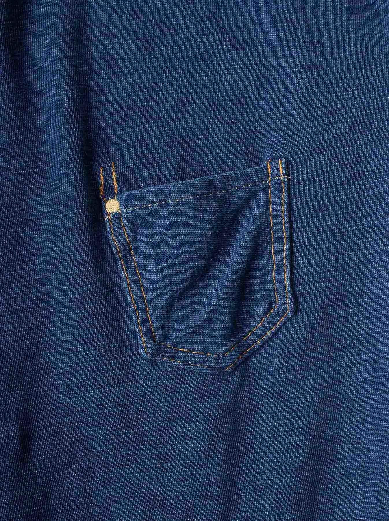 WH Indigo Plating Tenjiku T-shirt Distressed-7