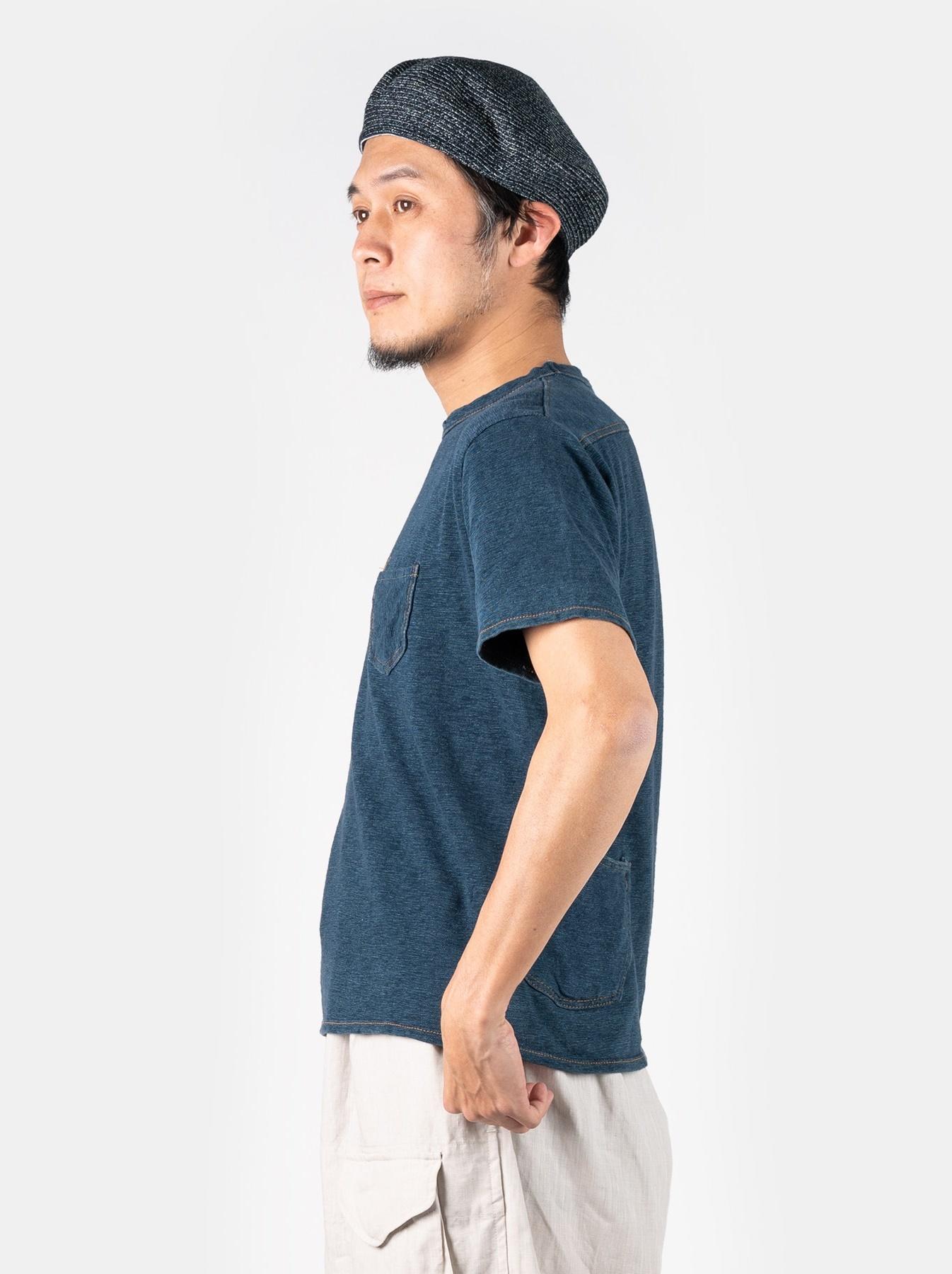 WH Indigo Plating Tenjiku T-shirt Distressed-4