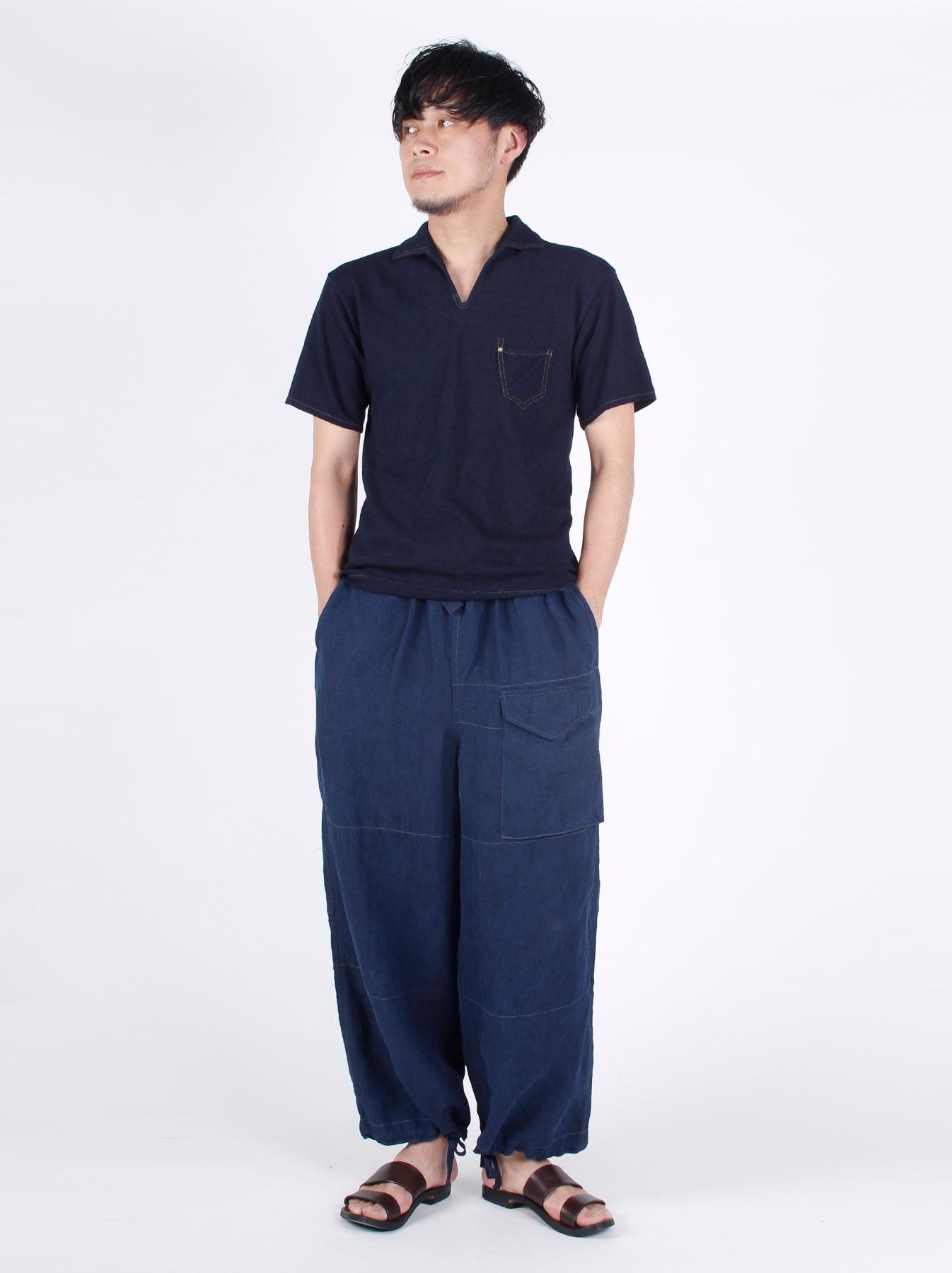 WH Indigo Plating Tenjiku Polo Shirt-2
