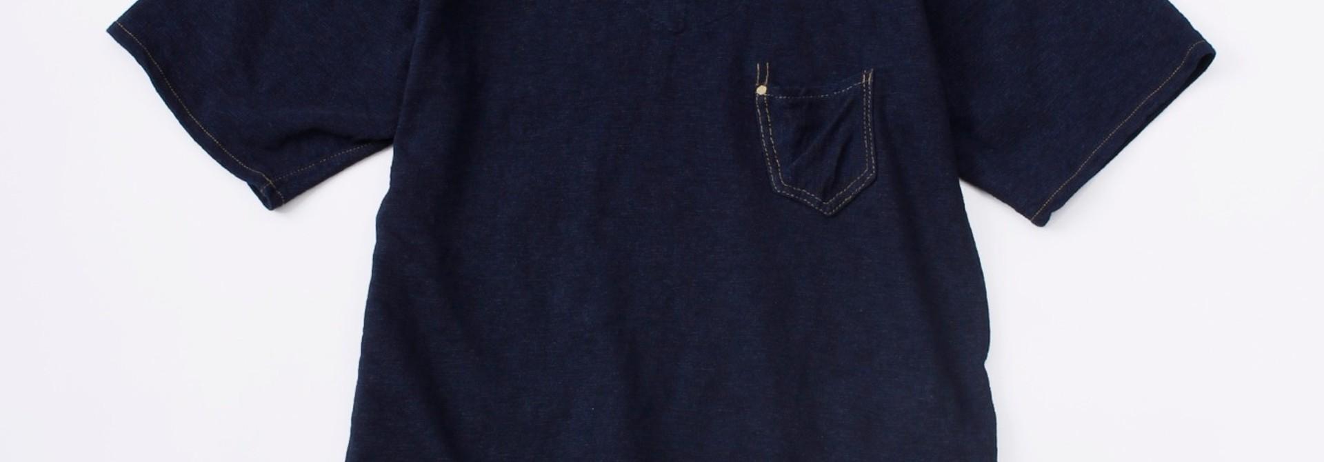 WH Indigo Plating Tenjiku Polo Shirt