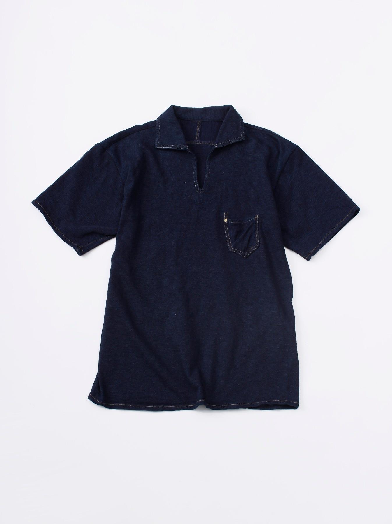 WH Indigo Plating Tenjiku Polo Shirt-1