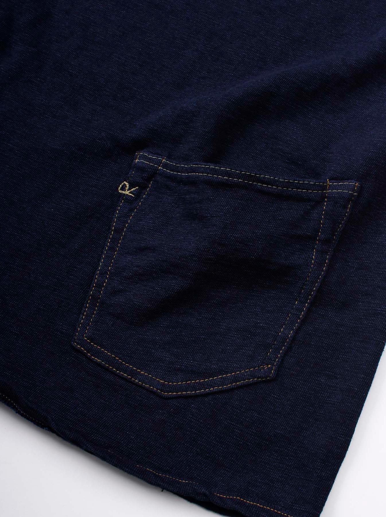 WH Indigo Plating Tenjiku Polo Shirt-9