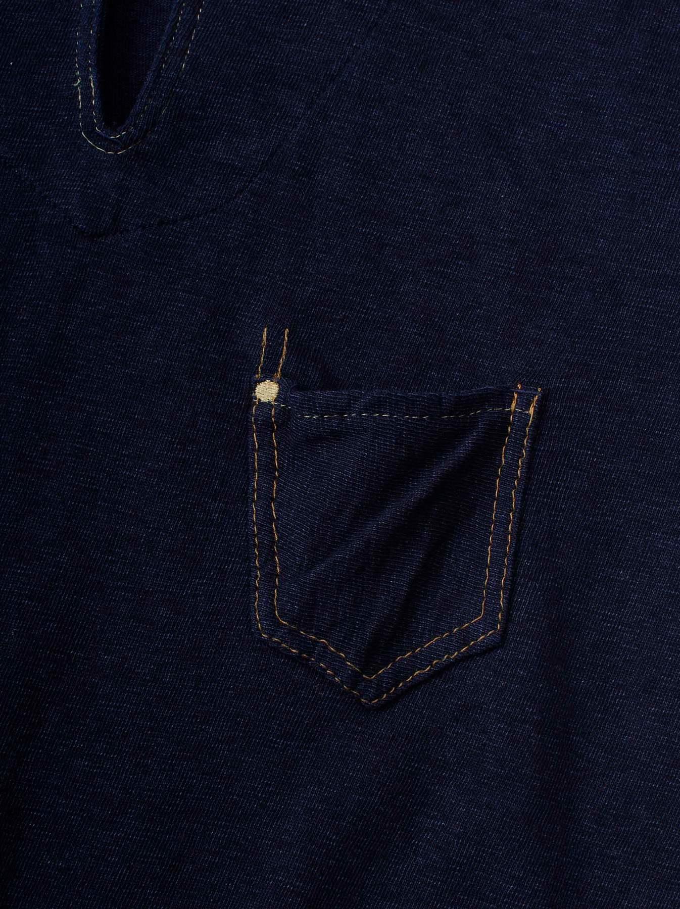 WH Indigo Plating Tenjiku Polo Shirt-7