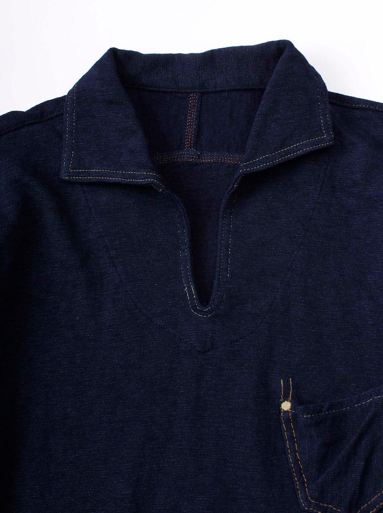 WH Indigo Plating Tenjiku Polo Shirt-6