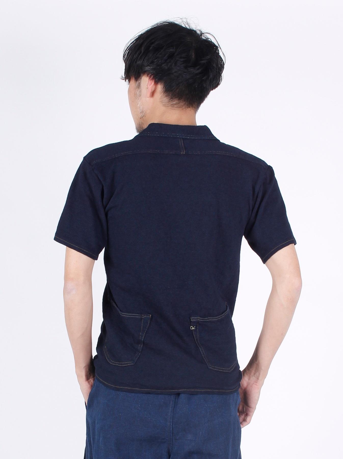 WH Indigo Plating Tenjiku Polo Shirt-5