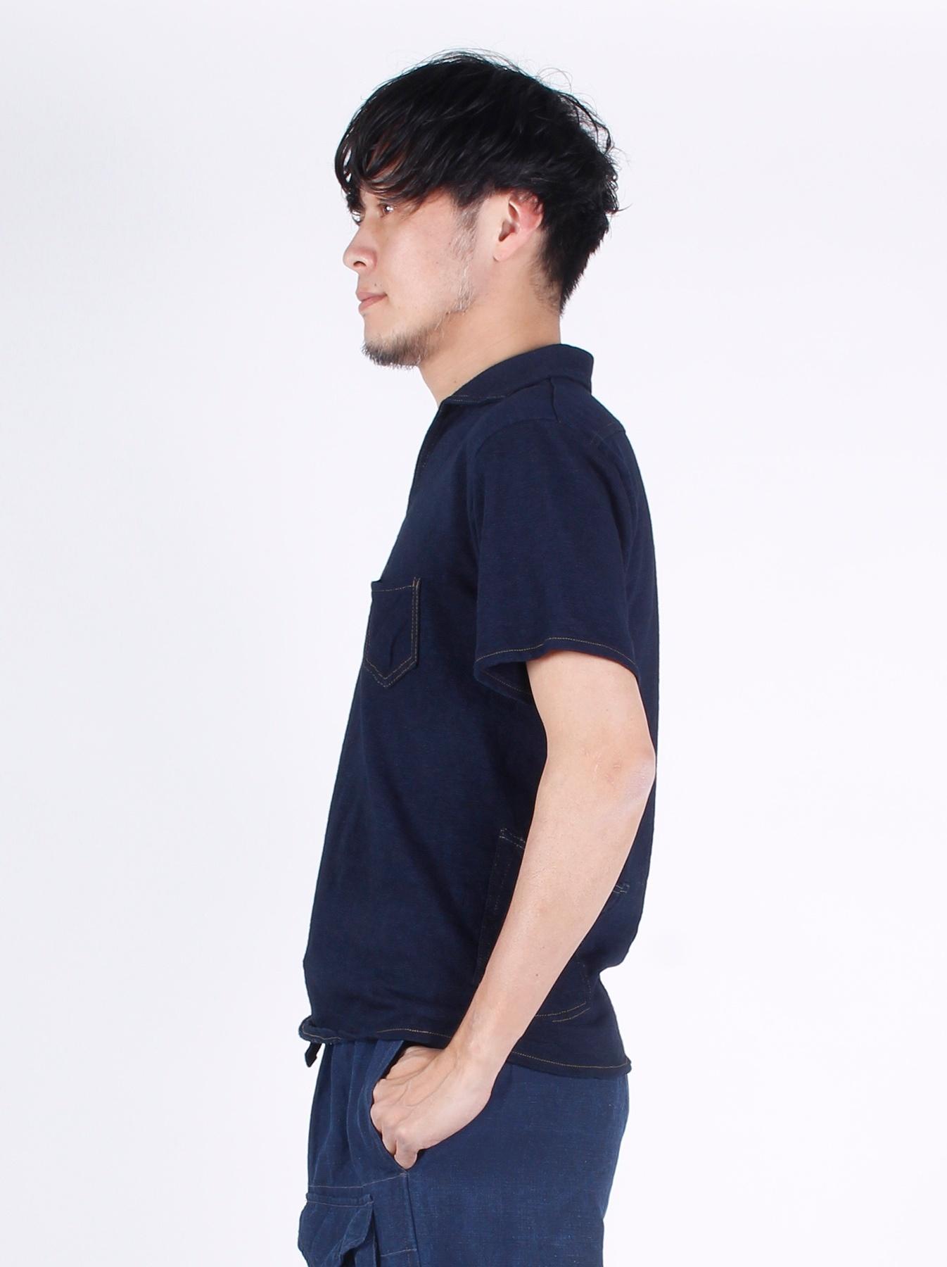WH Indigo Plating Tenjiku Polo Shirt-4
