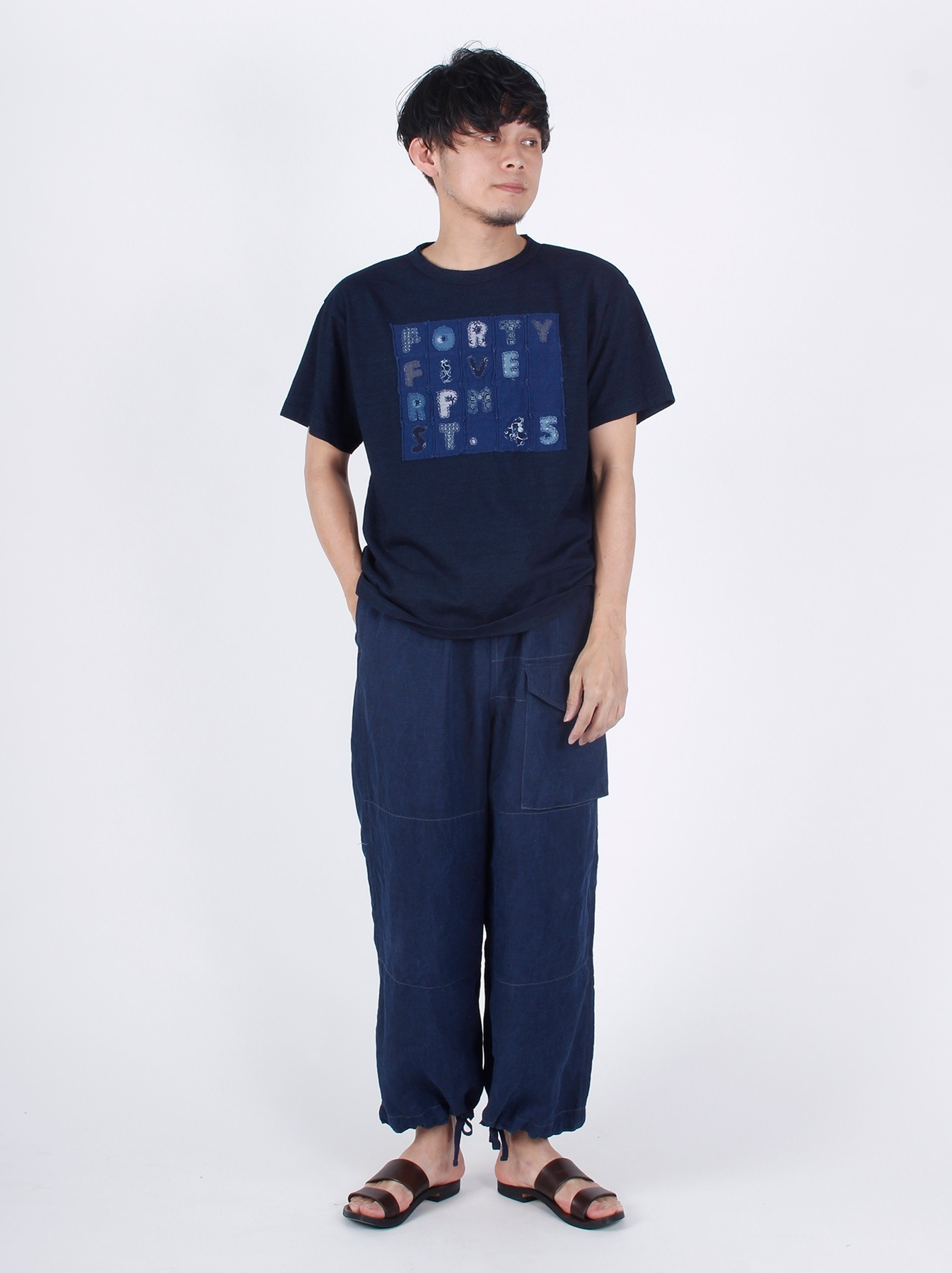 WH Indigo Applique T-shirt-2