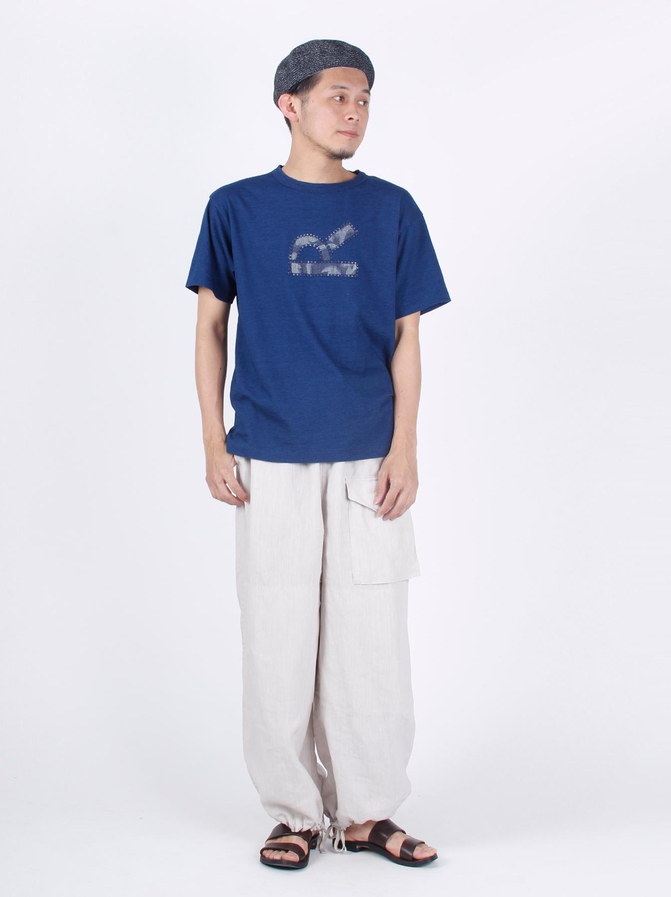 WH Indigo R Emblem T-shirt-2
