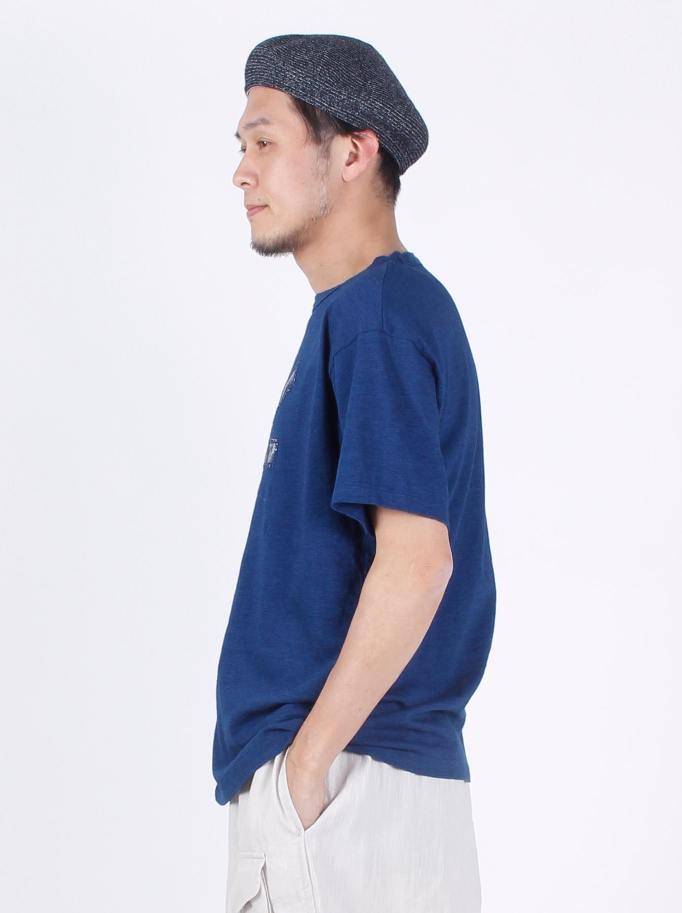 WH Indigo R Emblem T-shirt-4