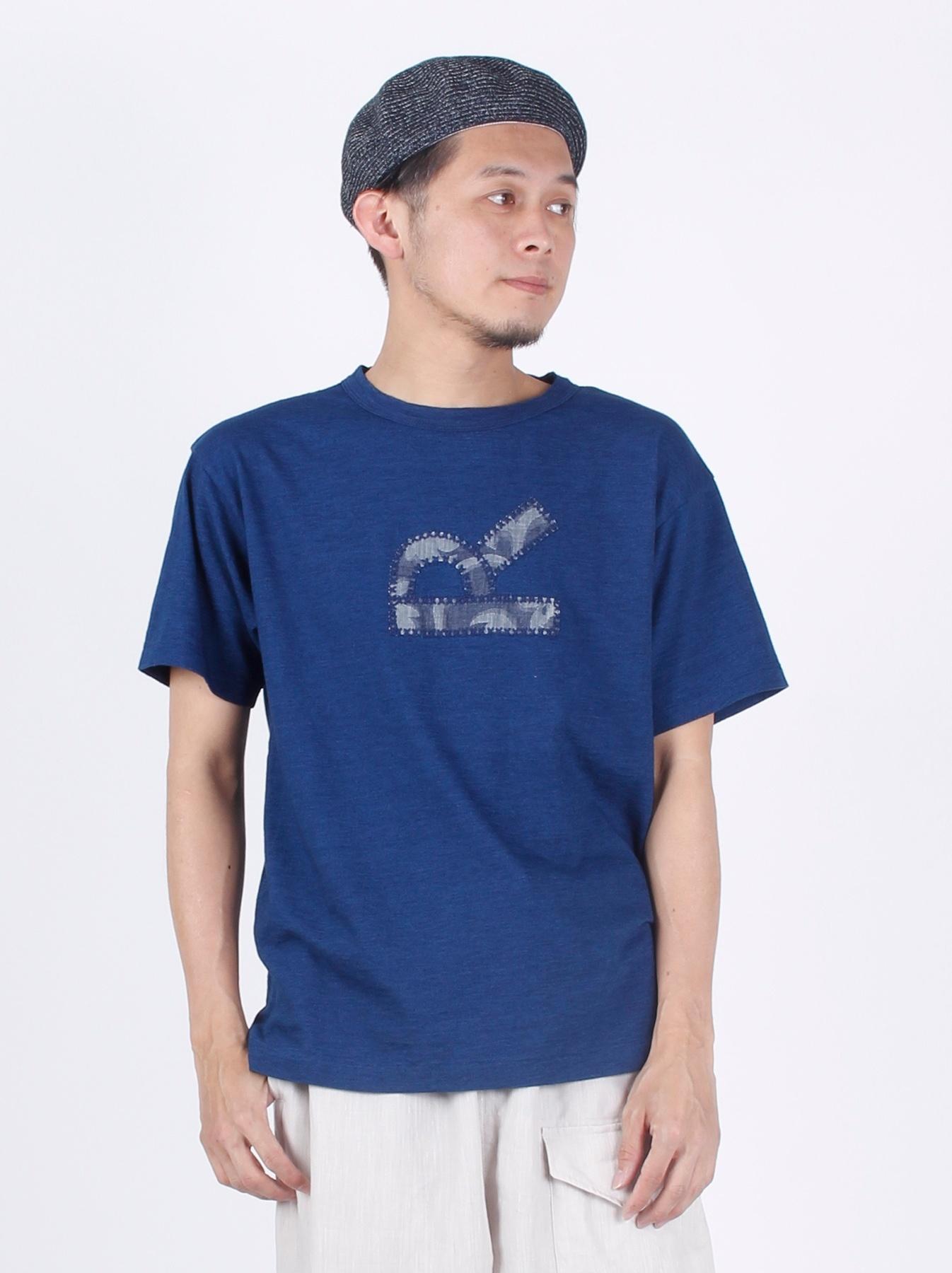 WH Indigo R Emblem T-shirt-3
