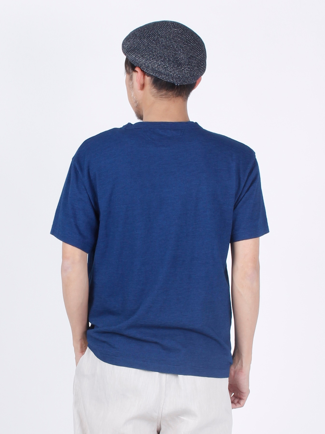 WH Indigo R Emblem T-shirt-5