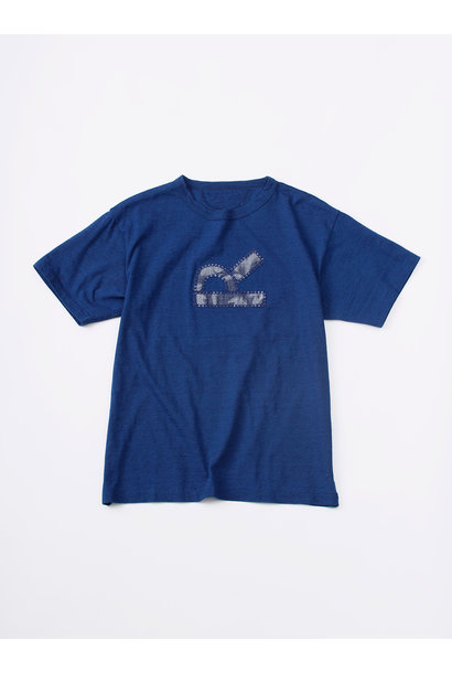 WH Indigo R Emblem T-shirt