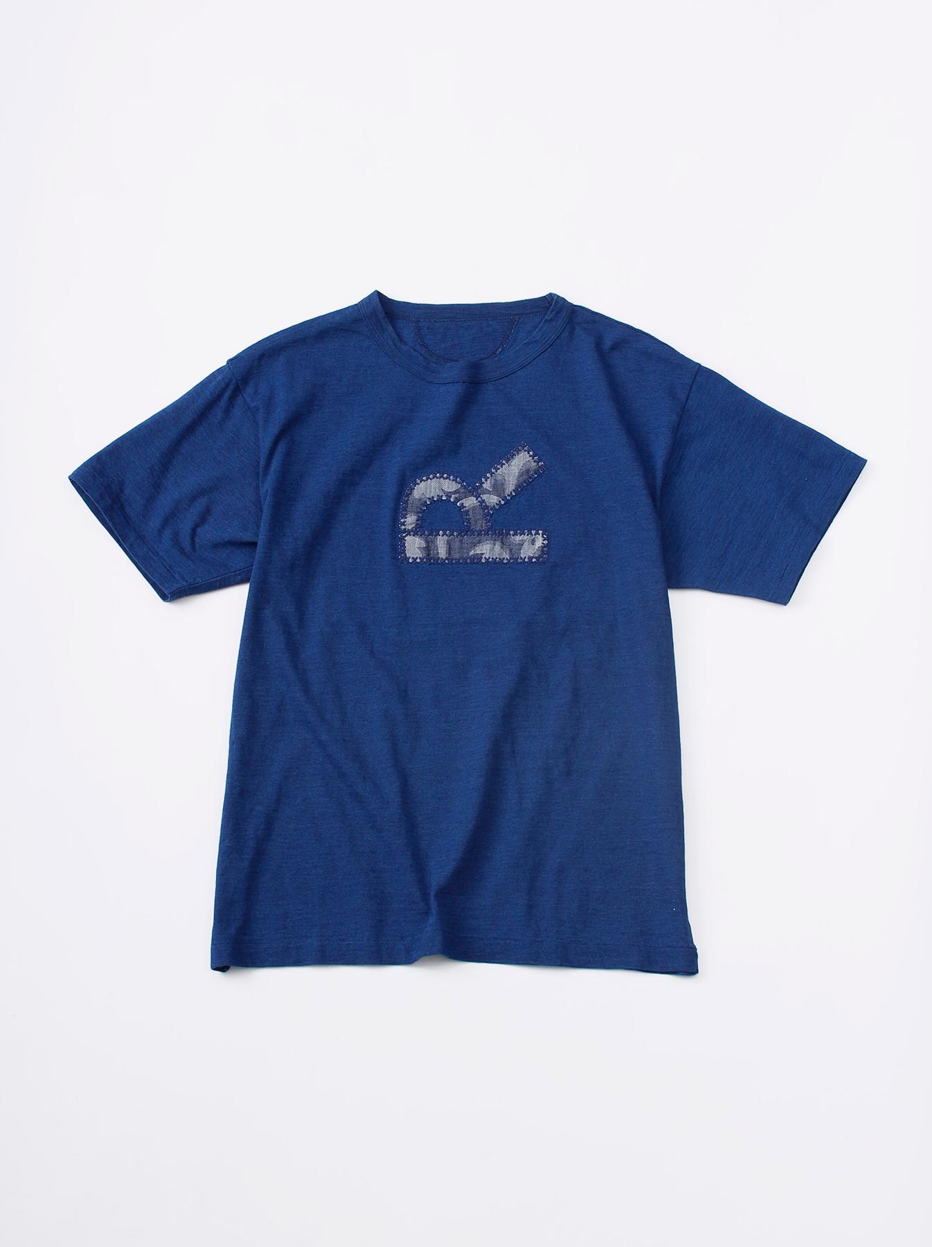 WH Indigo R Emblem T-shirt-1