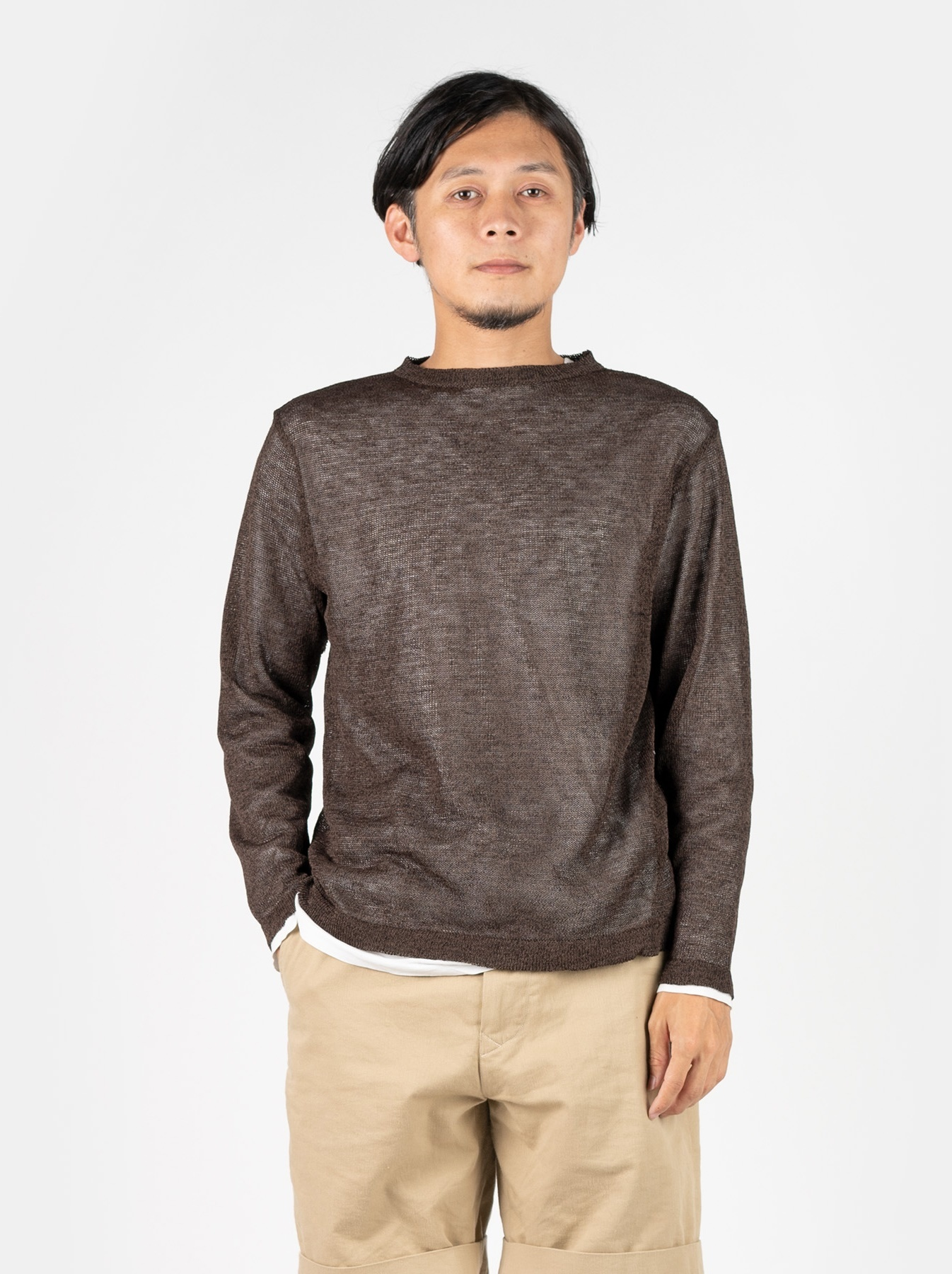 WH Gima Knit Long-sleeved T-shirt-3