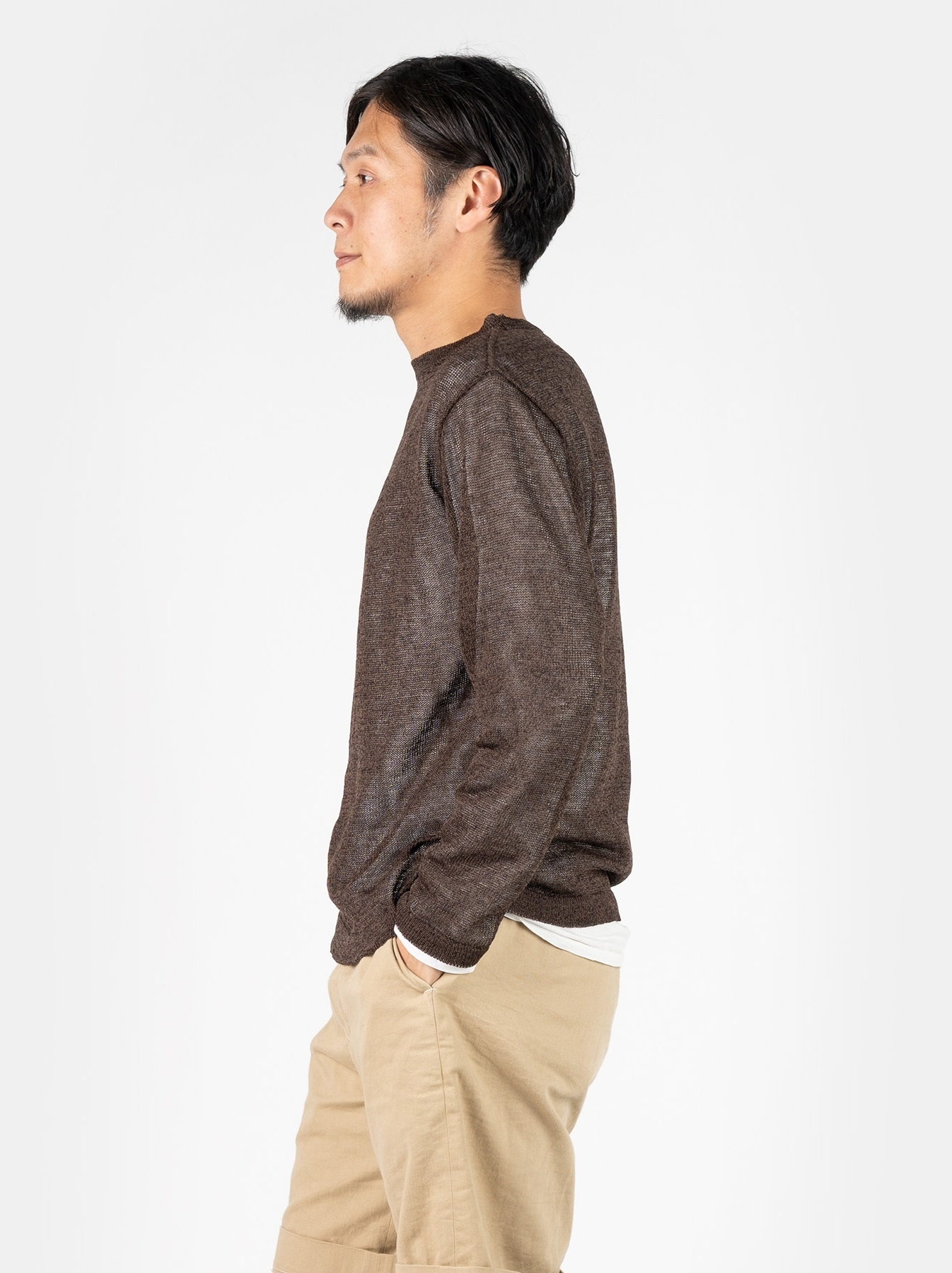 WH Gima Knit Long-sleeved T-shirt-4