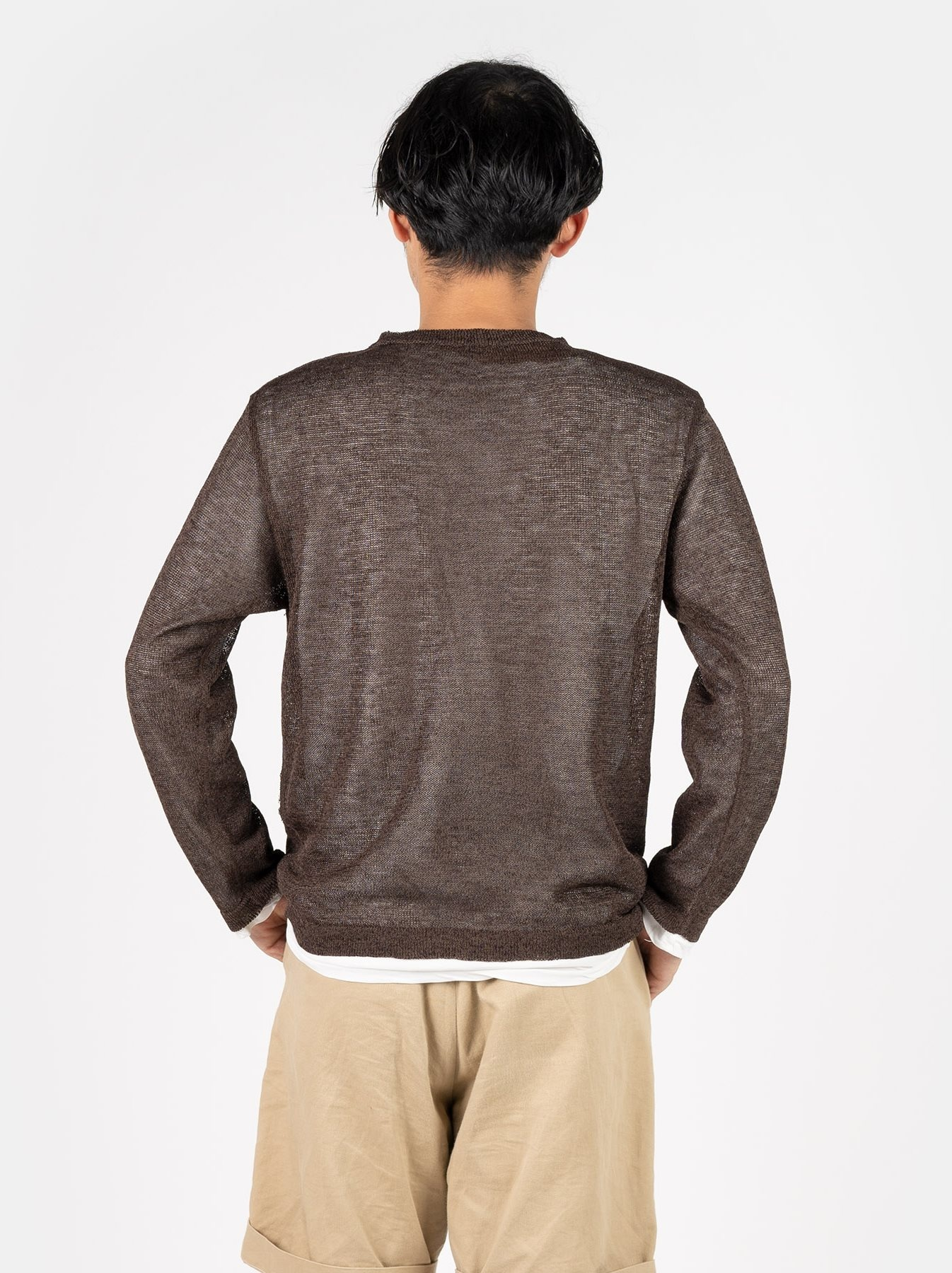 WH Gima Knit Long-sleeved T-shirt-5