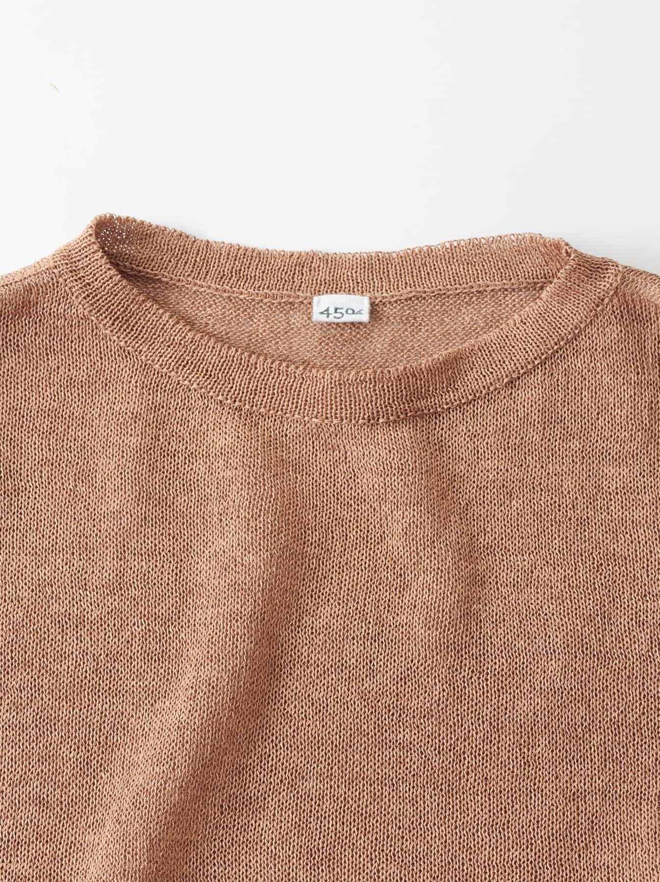 WH Gima Knit Long-sleeved T-shirt-7