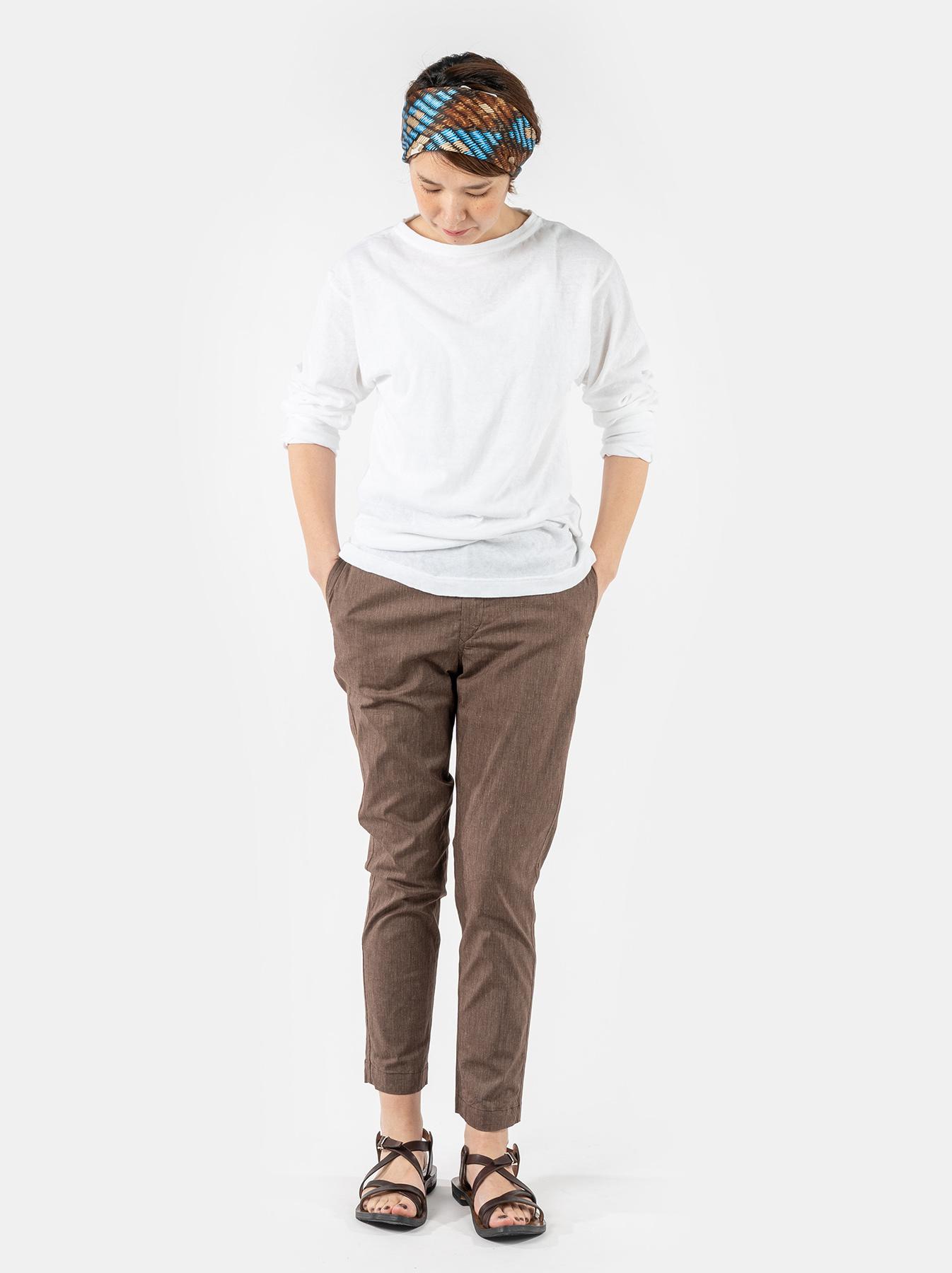WH Cotton Linen Hakeme Stretch Pants-2