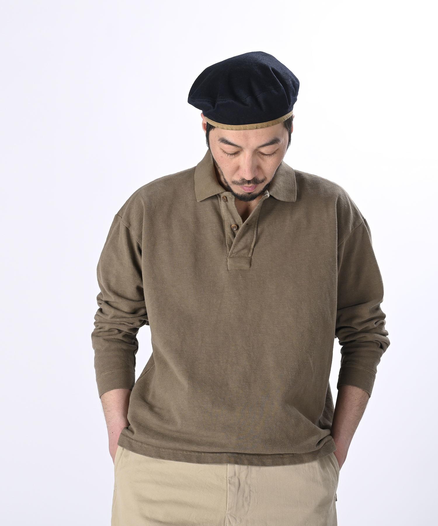 Kanoko Ocean Shiokaze Long-sleeved Polo Shirt (0421)-3