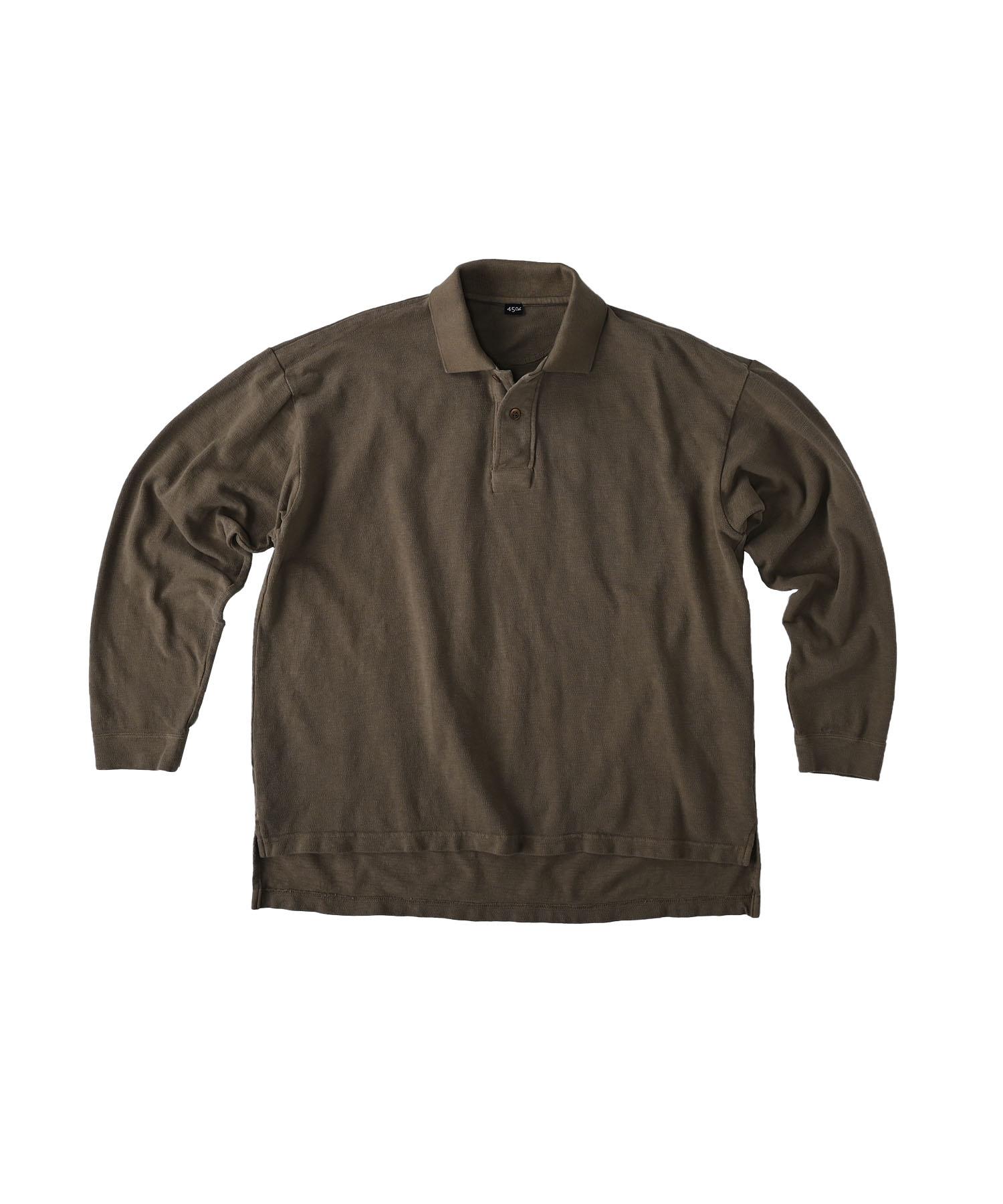 Kanoko Ocean Shiokaze Long-sleeved Polo Shirt (0421)-6