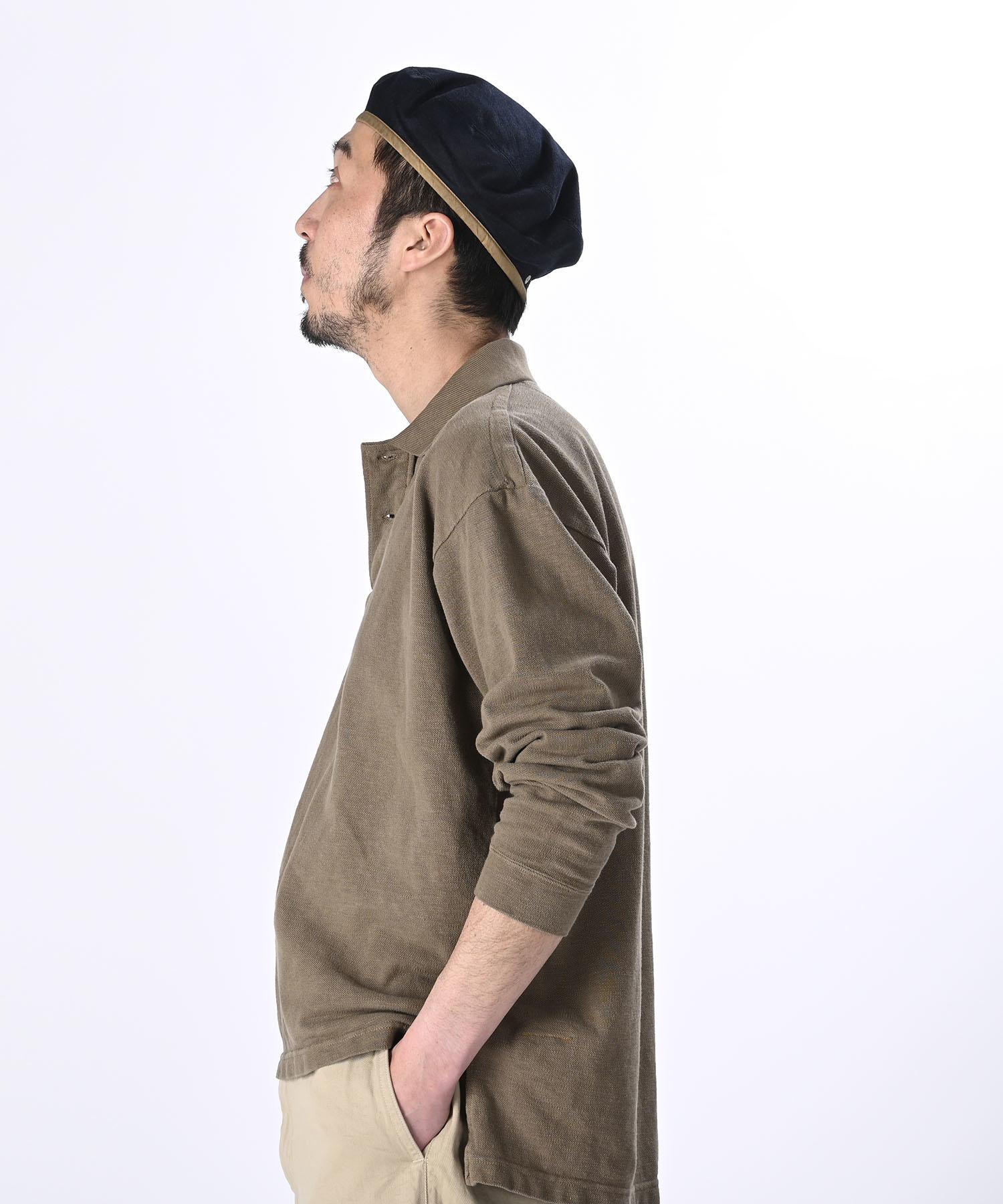 Kanoko Ocean Shiokaze Long-sleeved Polo Shirt (0421)-4