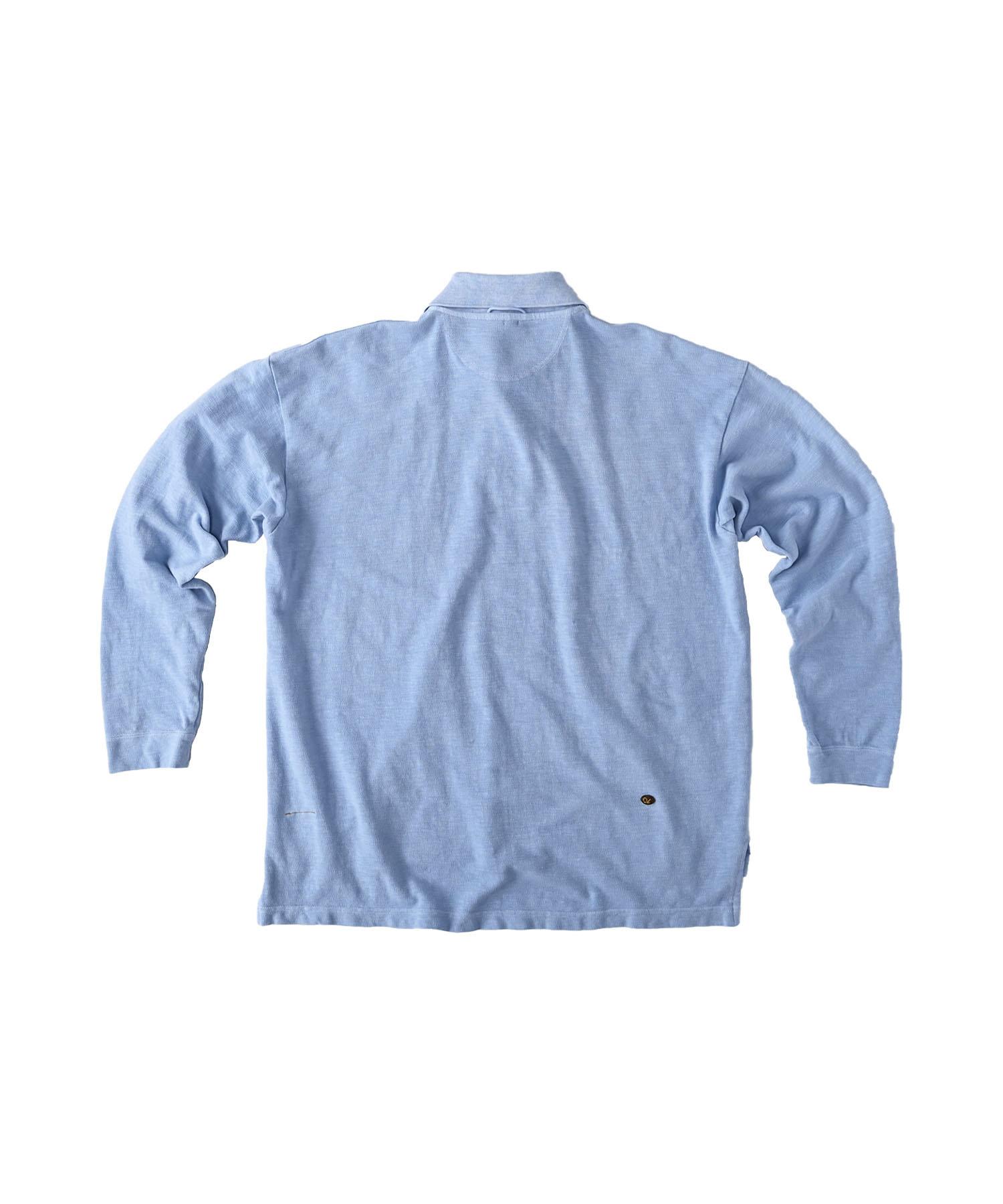 Kanoko Ocean Shiokaze Long-sleeved Polo Shirt (0421)-7