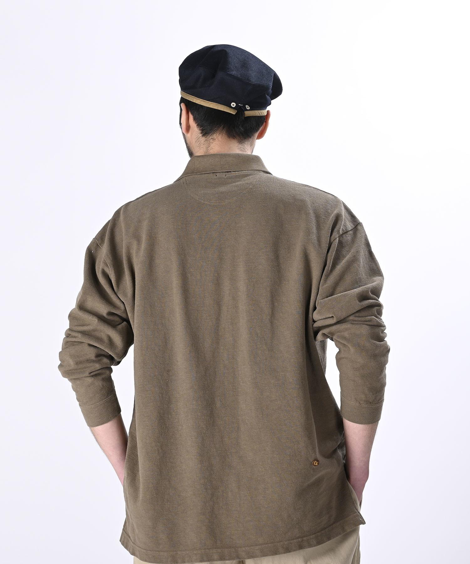 Kanoko Ocean Shiokaze Long-sleeved Polo Shirt (0421)-5