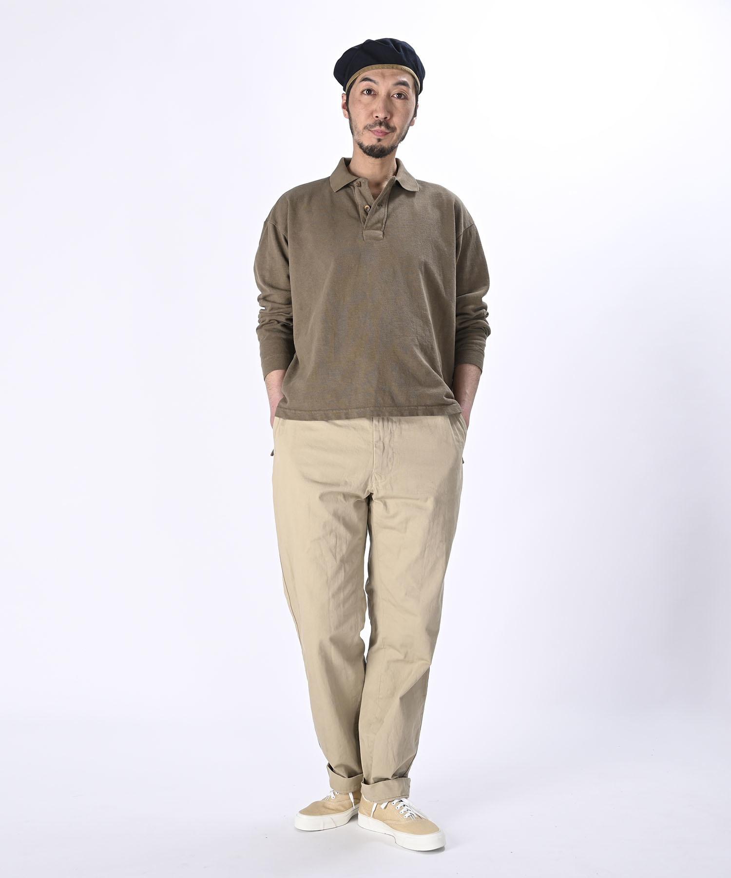 Kanoko Ocean Shiokaze Long-sleeved Polo Shirt (0421)-2
