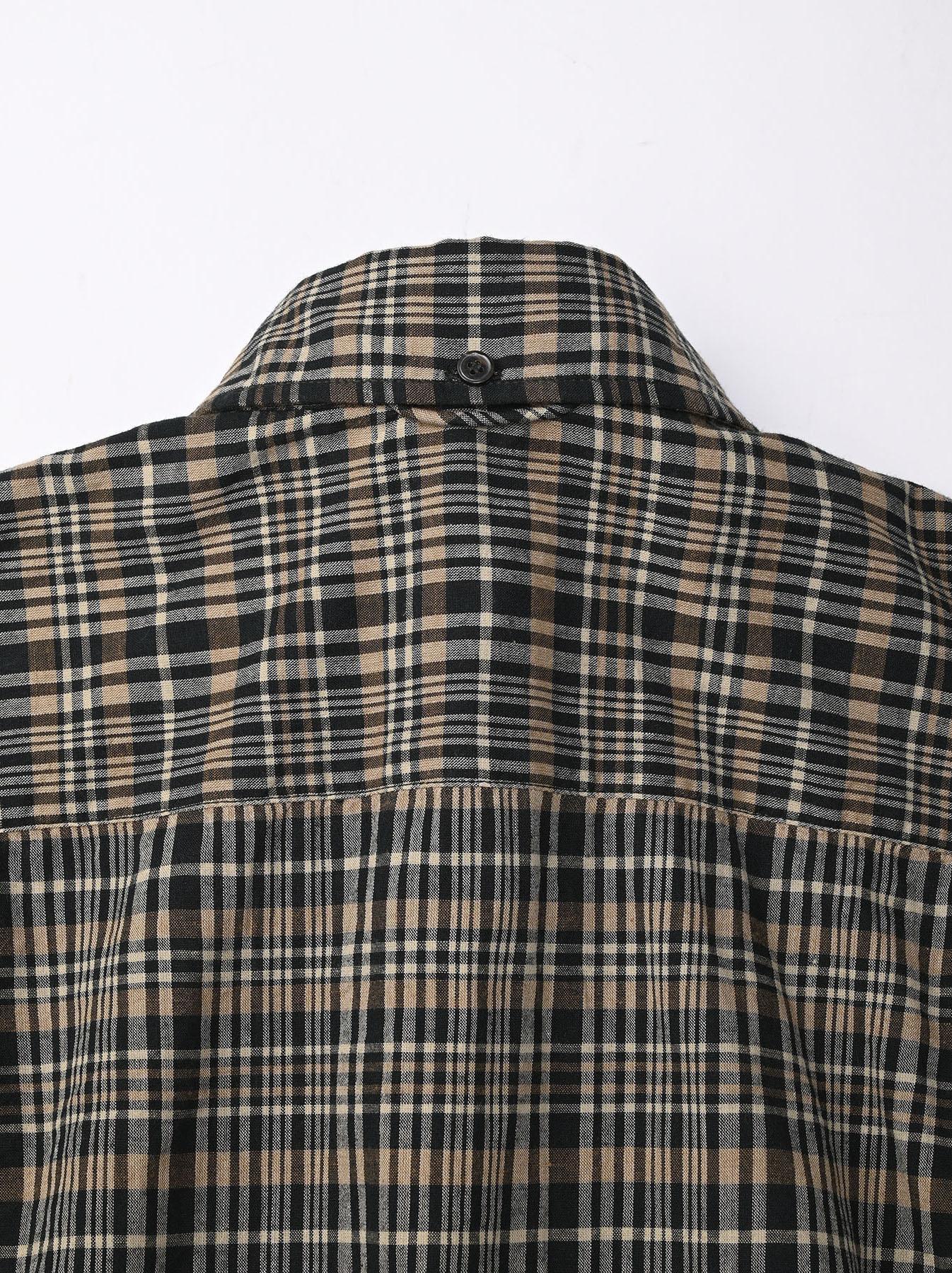 Indian Mugi-hira 908 Ocean Button Down Shirt (0421)-9