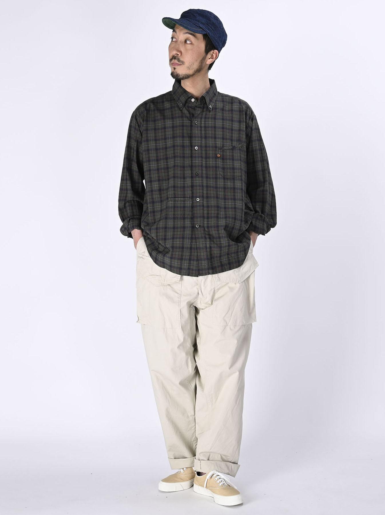 Indian Mugi-hira 908 Ocean Button Down Shirt (0421)-2