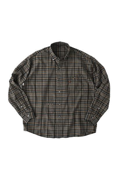 Indian Mugi-hira 908 Ocean Button Down Shirt (0421)