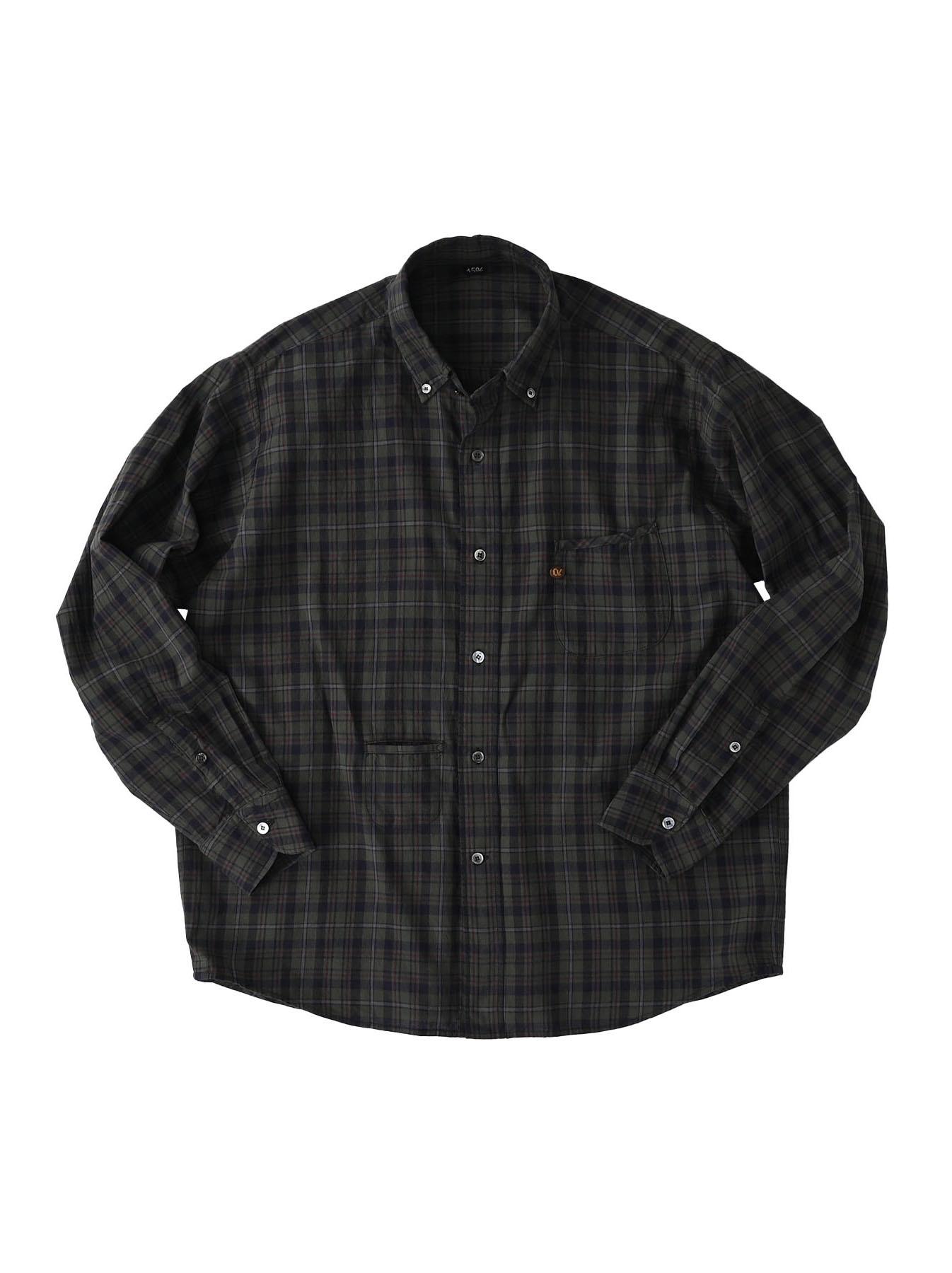 Indian Mugi-hira 908 Ocean Button Down Shirt (0421)-3