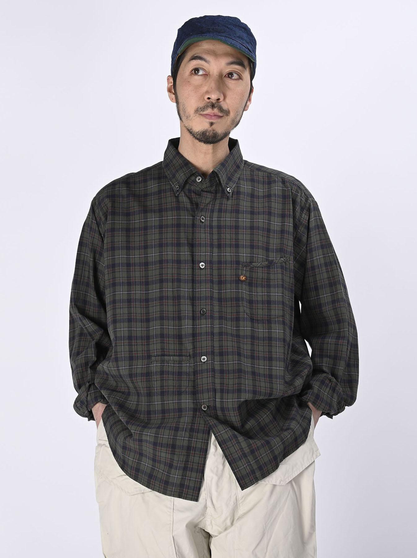 Indian Mugi-hira 908 Ocean Button Down Shirt (0421)-5