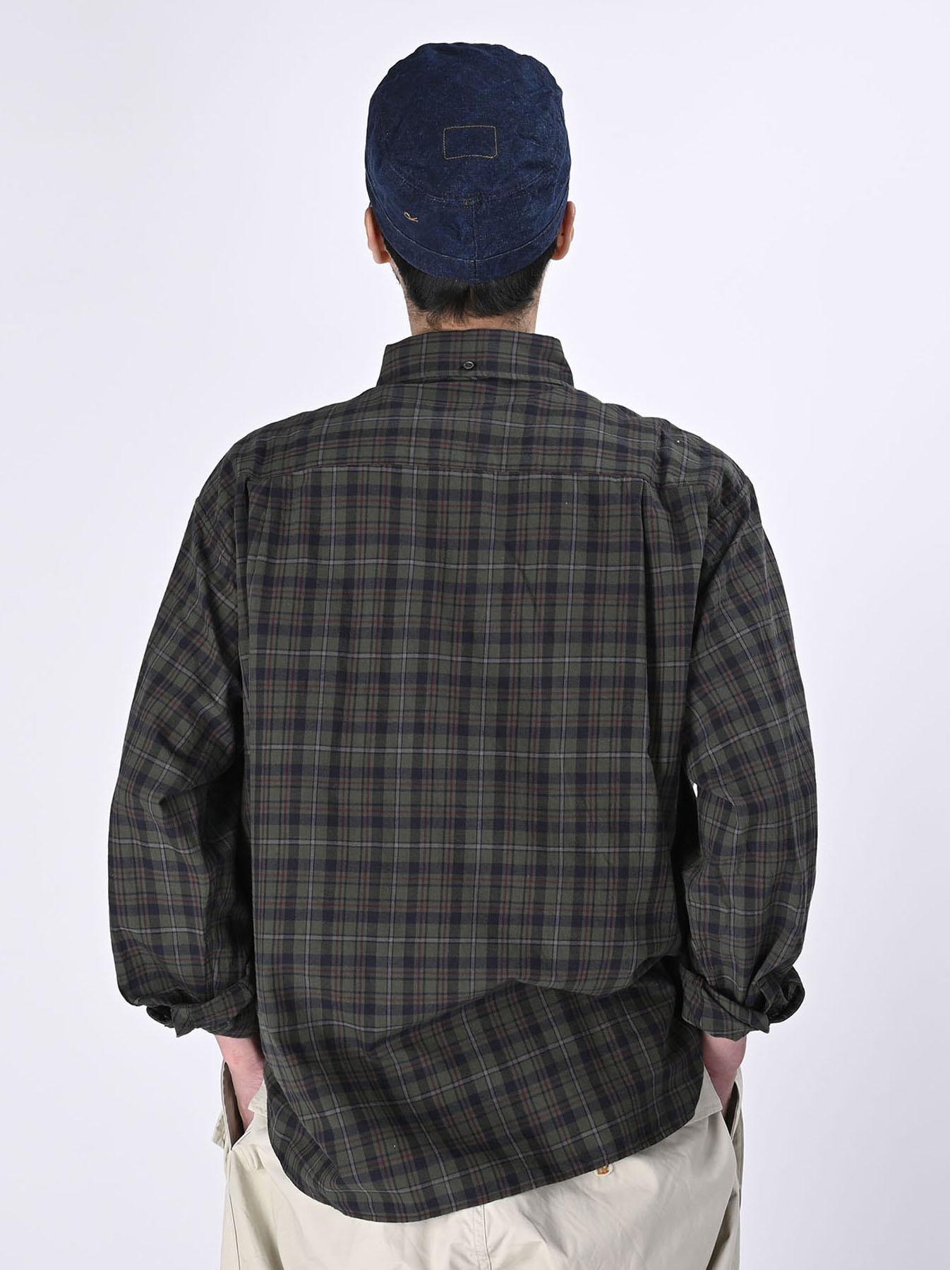 Indian Mugi-hira 908 Ocean Button Down Shirt (0421)-6